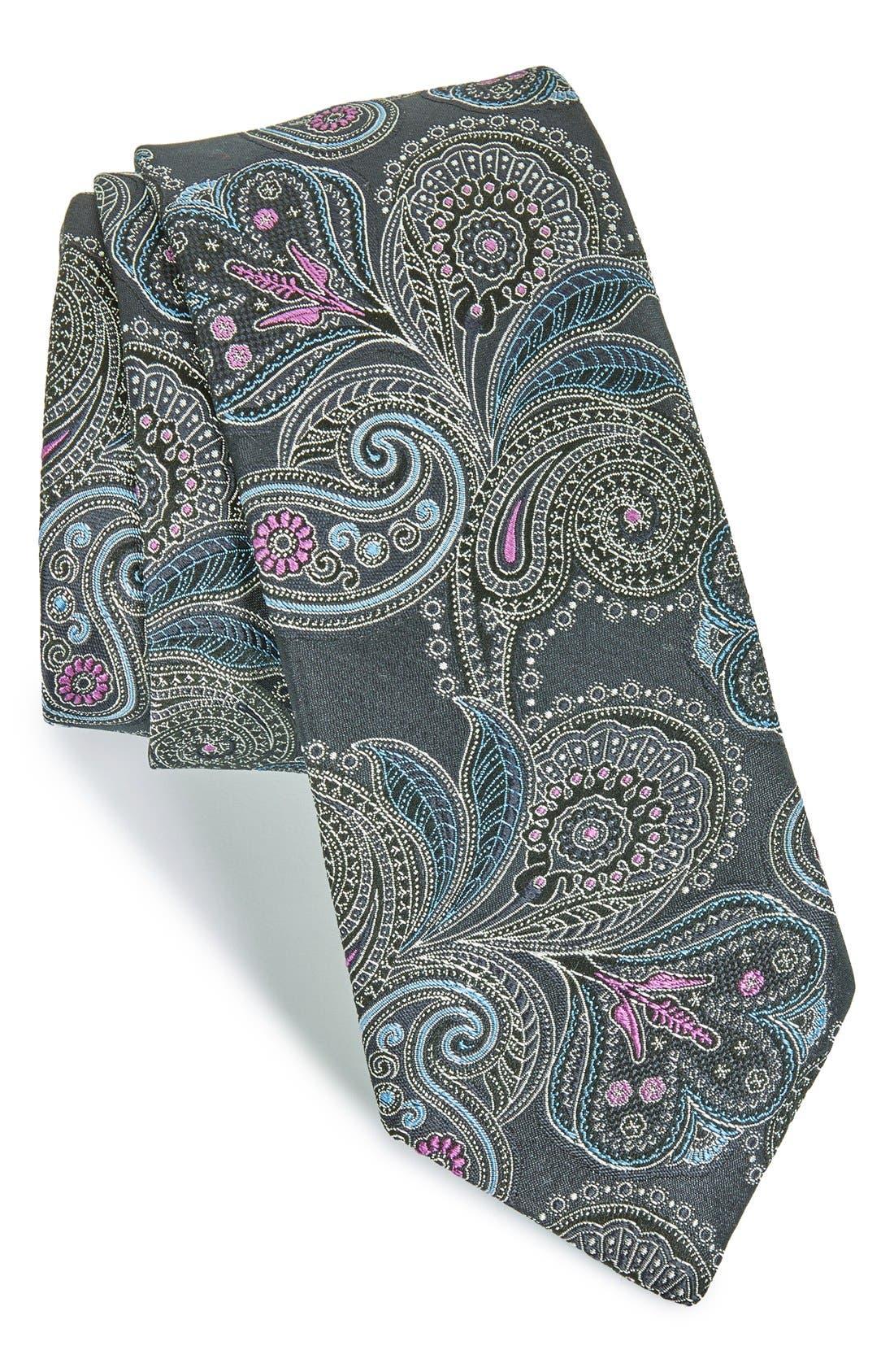 Paisley Silk Tie,                             Main thumbnail 1, color,                             402
