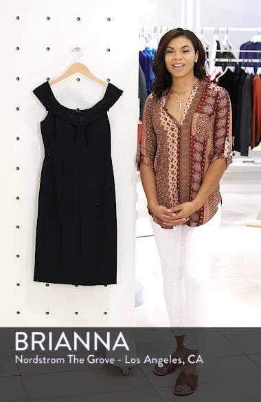 Off the Shoulder Crepe Dress, sales video thumbnail