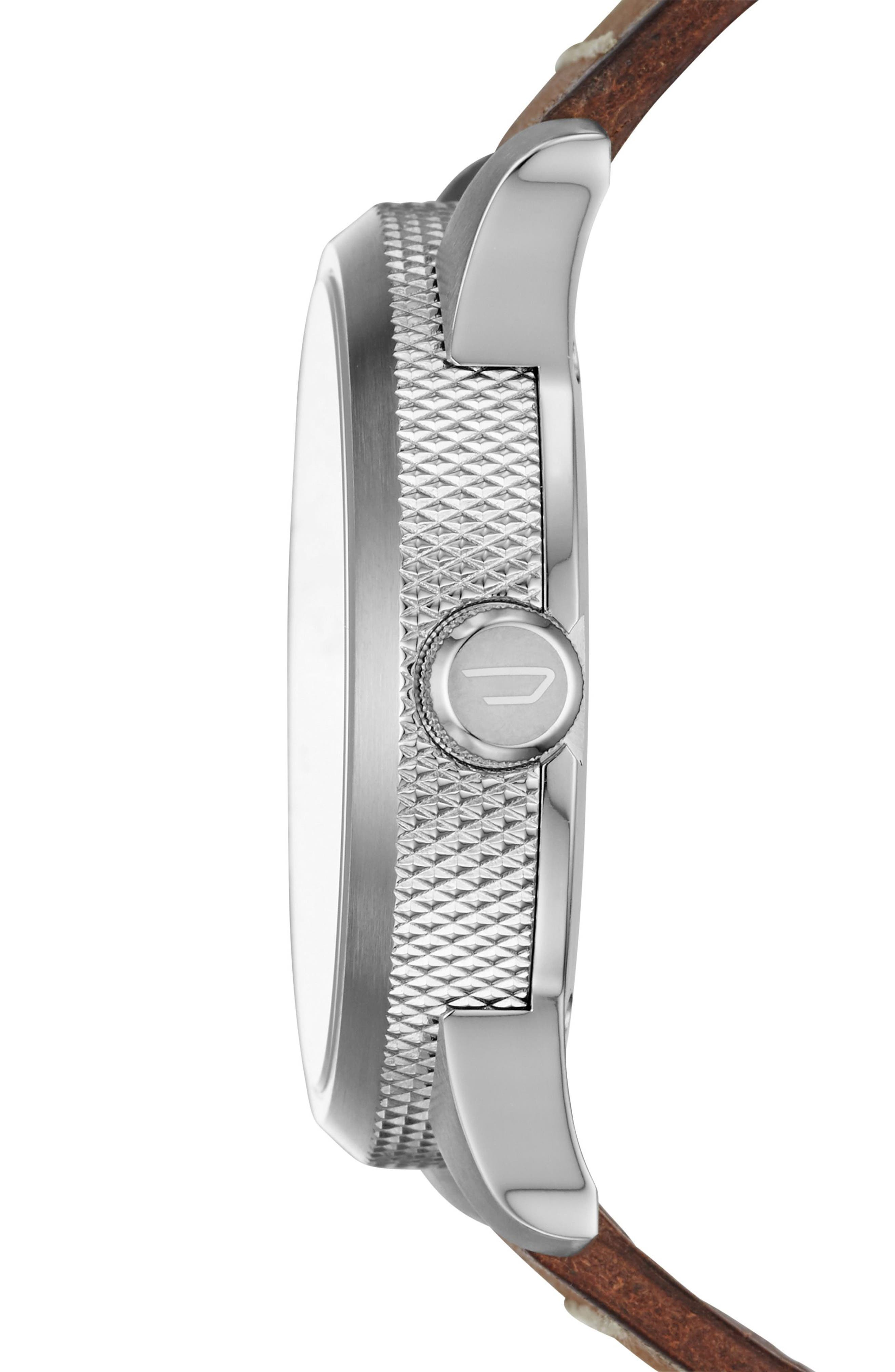 Rasp Leather Strap Watch, 46mm,                             Alternate thumbnail 2, color,                             200