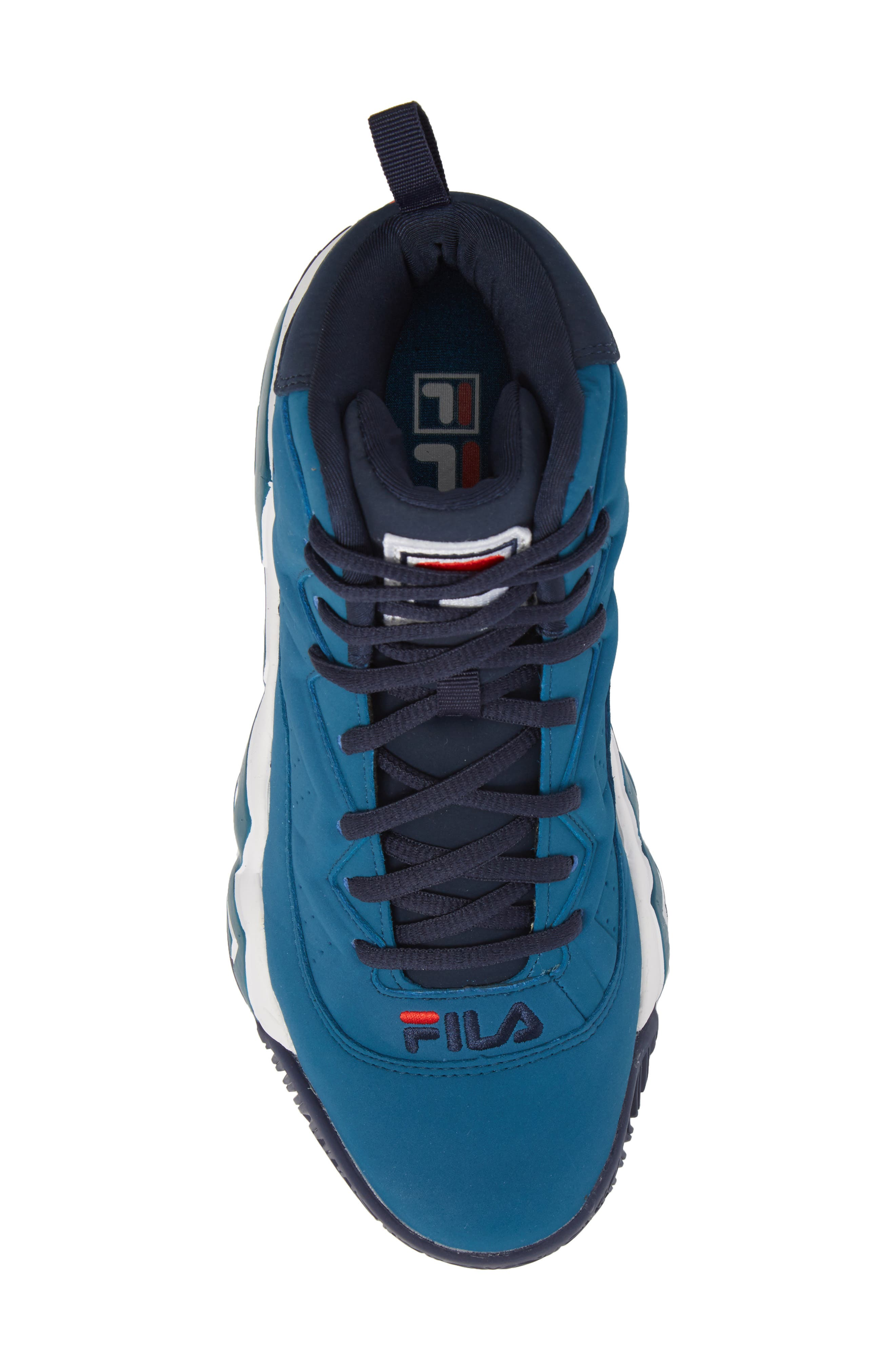 MB High Top Sneaker,                             Alternate thumbnail 5, color,                             INK BLUE/ FILA NAVY