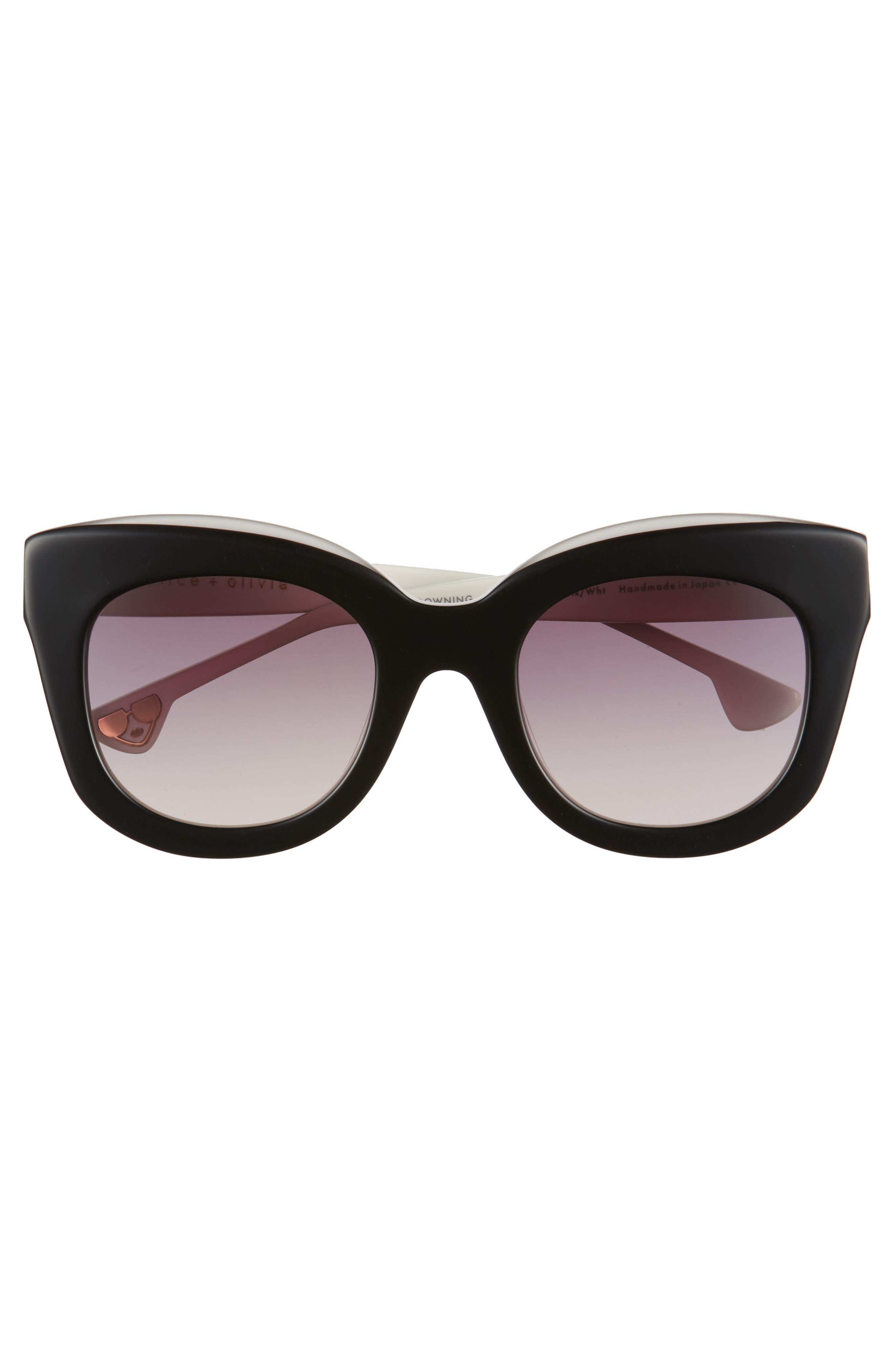Downing 51mm Cat Eye Sunglasses,                             Alternate thumbnail 3, color,                             001