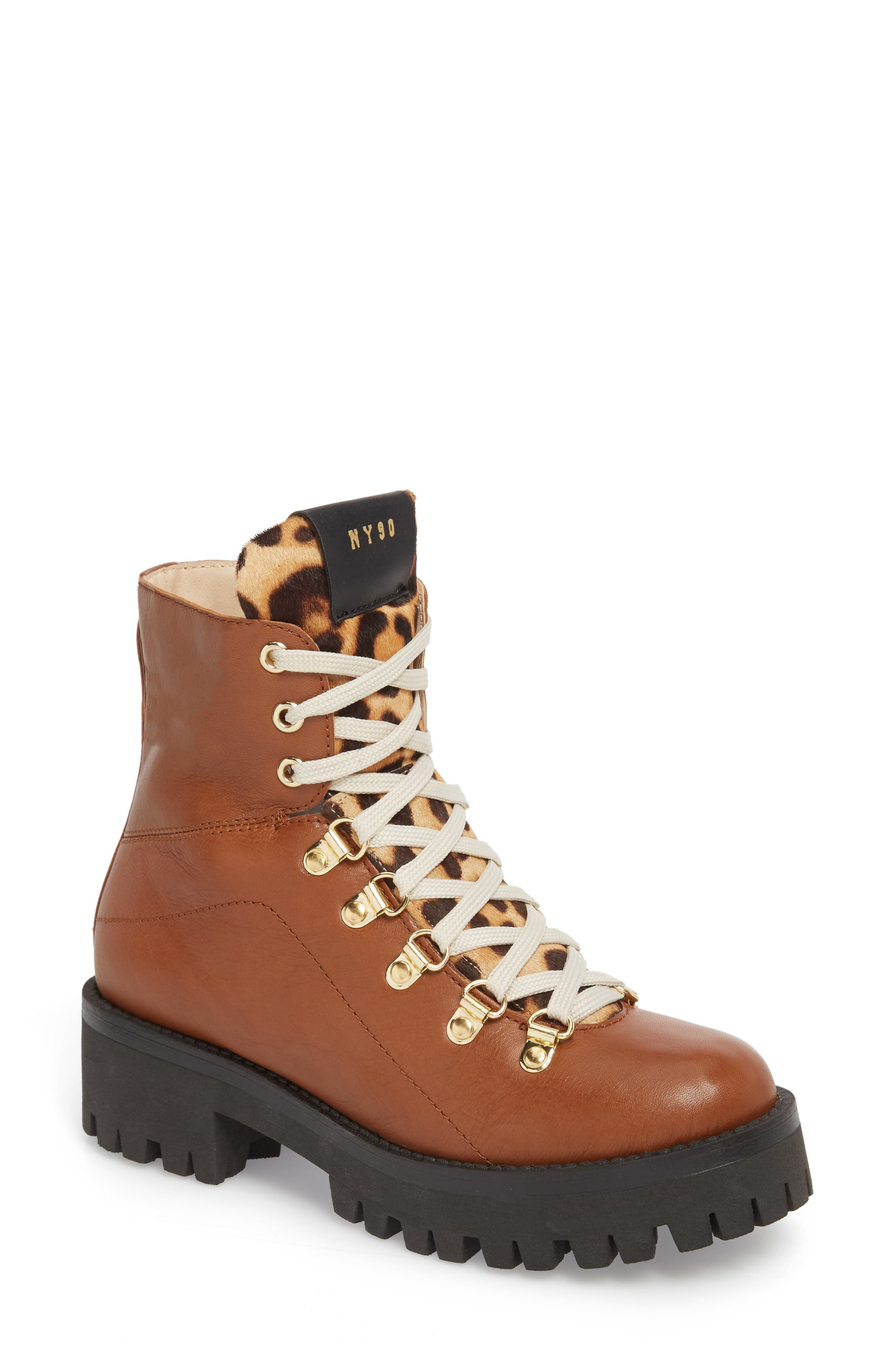 STEVE MADDEN Boom Hiker Boot with Genuine Calf Hair, Main, color, 200