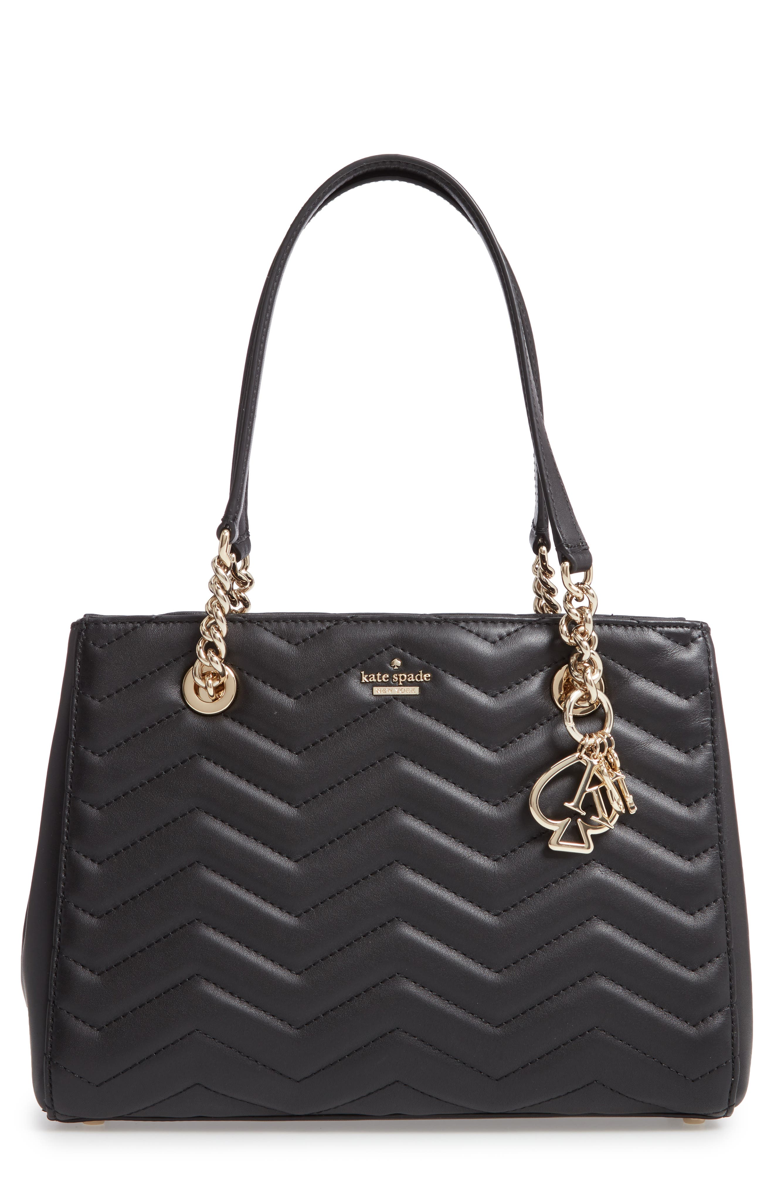 reese park - small courtnee leather tote,                             Main thumbnail 1, color,                             001