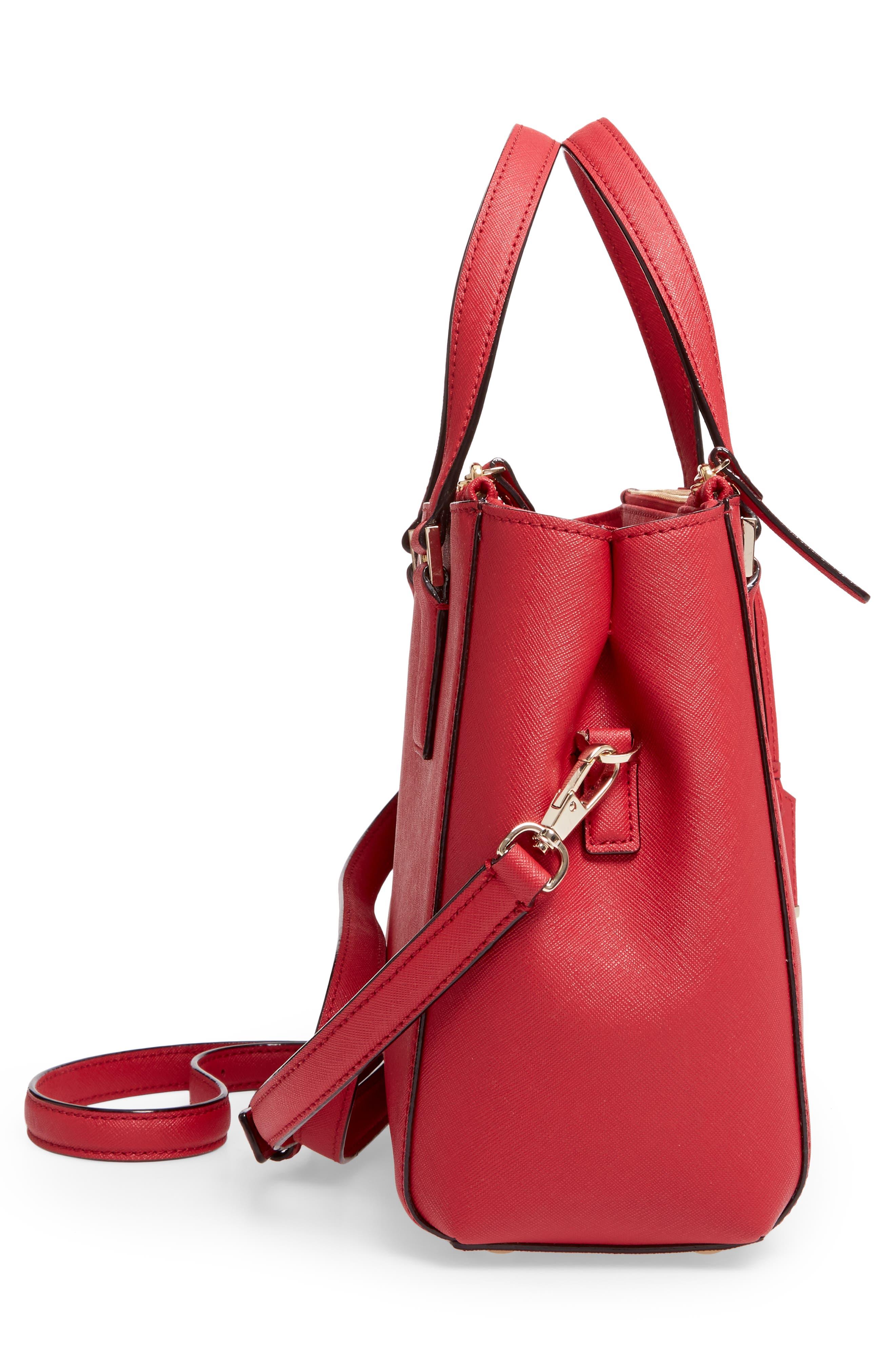cameron street - teegan calfskin leather satchel,                             Alternate thumbnail 5, color,                             638