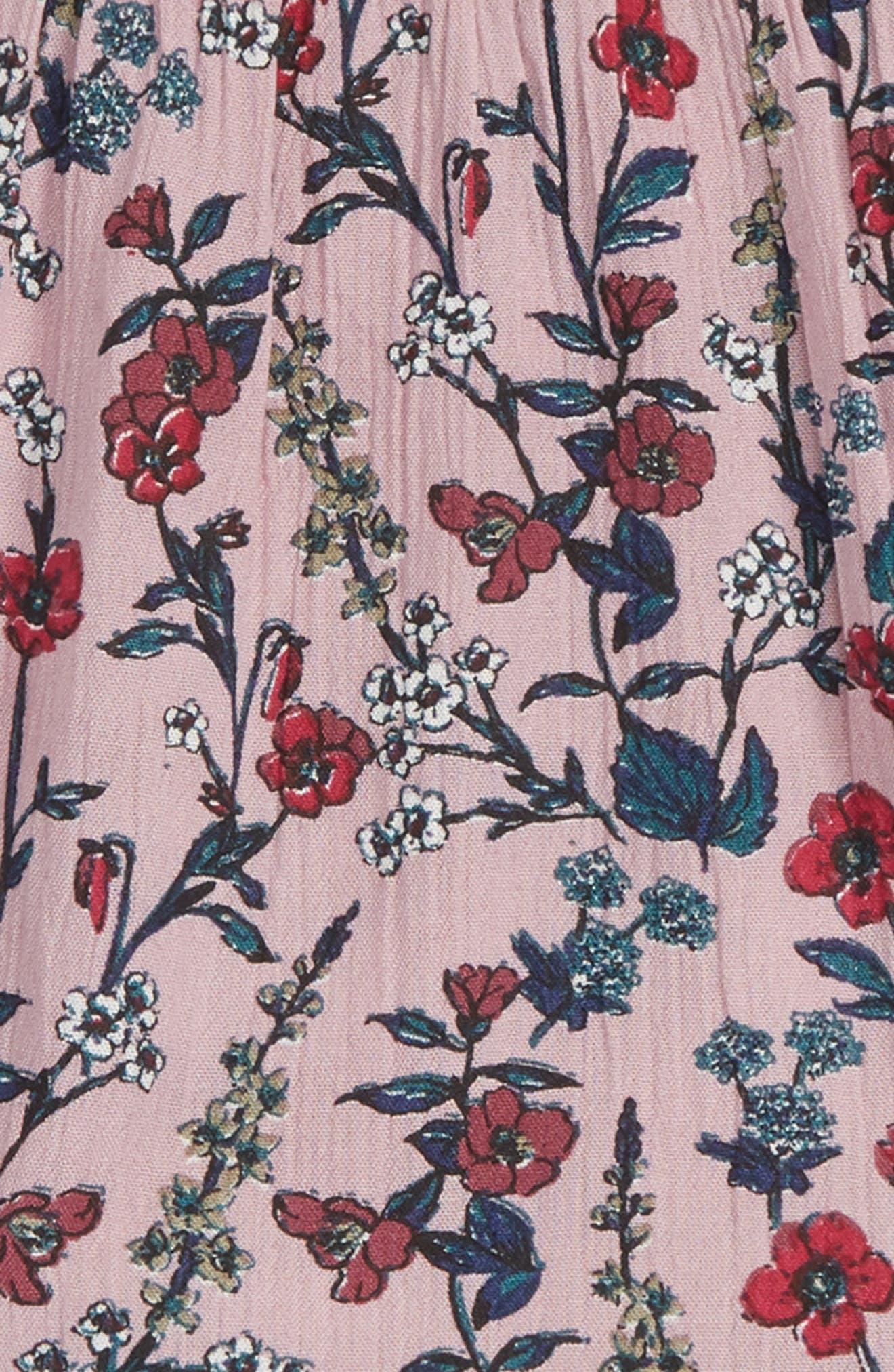 Valerie Sleeveless Ruffle Dress,                             Alternate thumbnail 3, color,                             LILAC