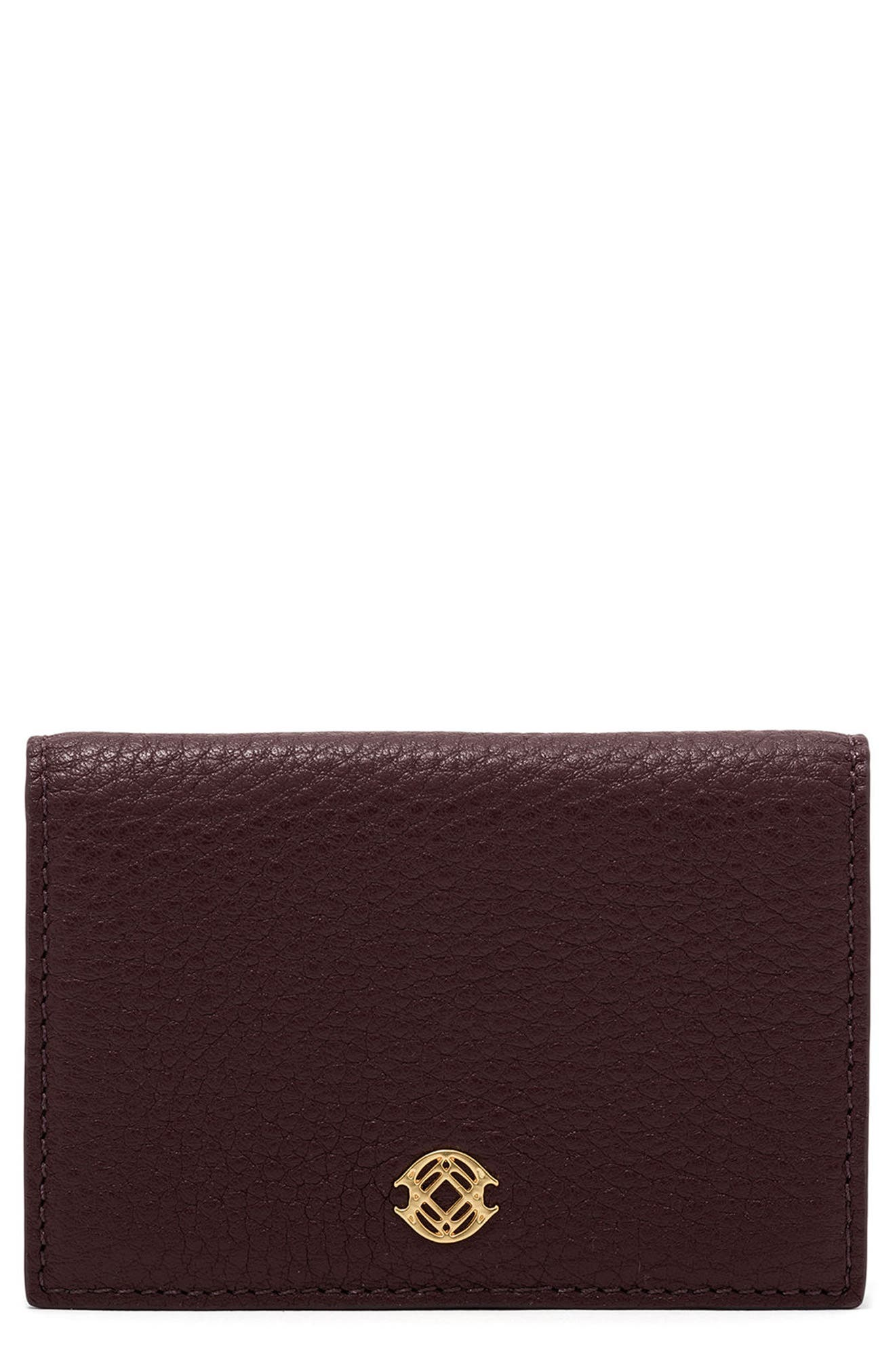 Accordion Leather Card Case,                             Main thumbnail 6, color,