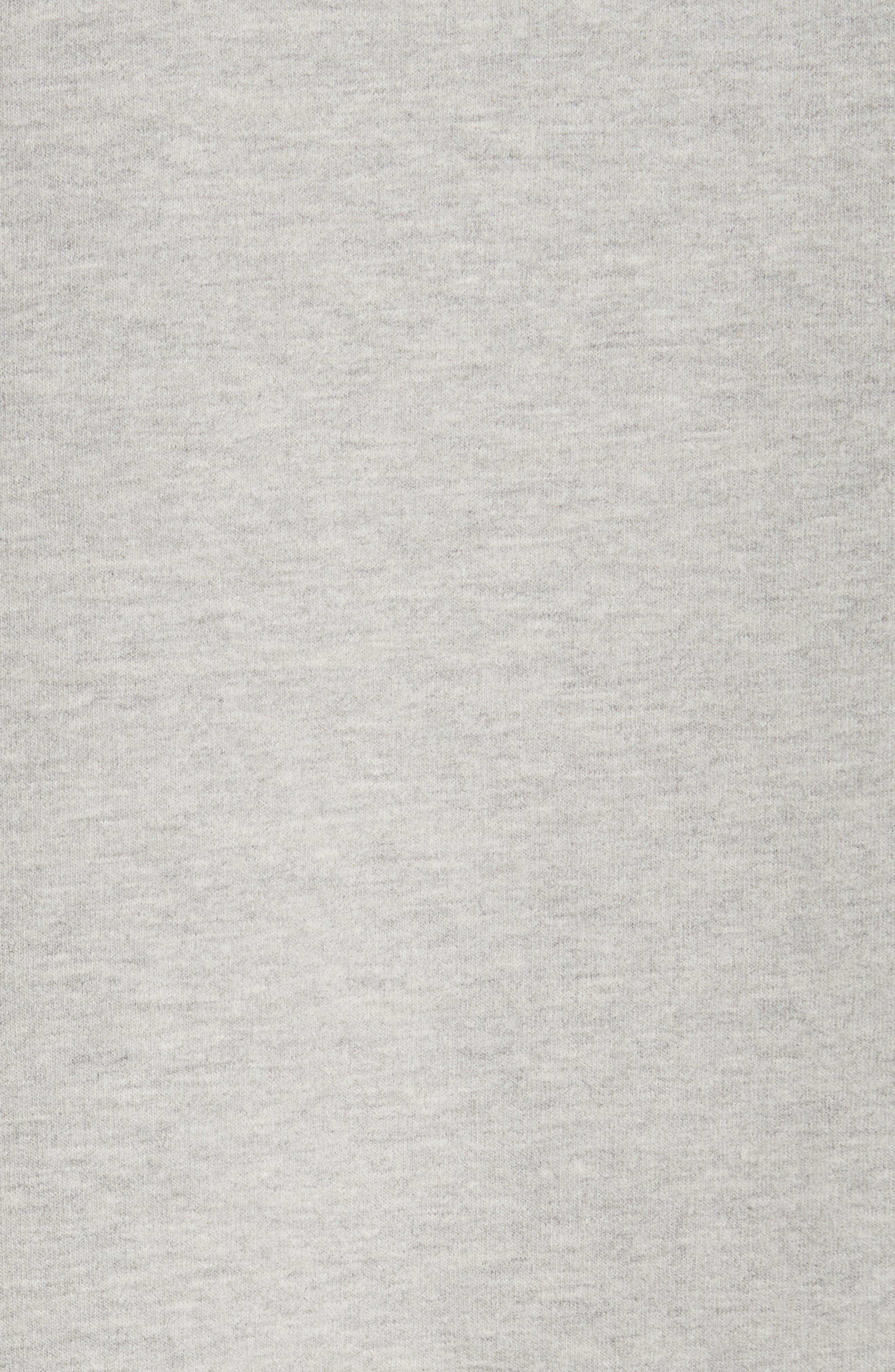 Oversize Hoodie,                             Alternate thumbnail 5, color,                             HEATHER GREY