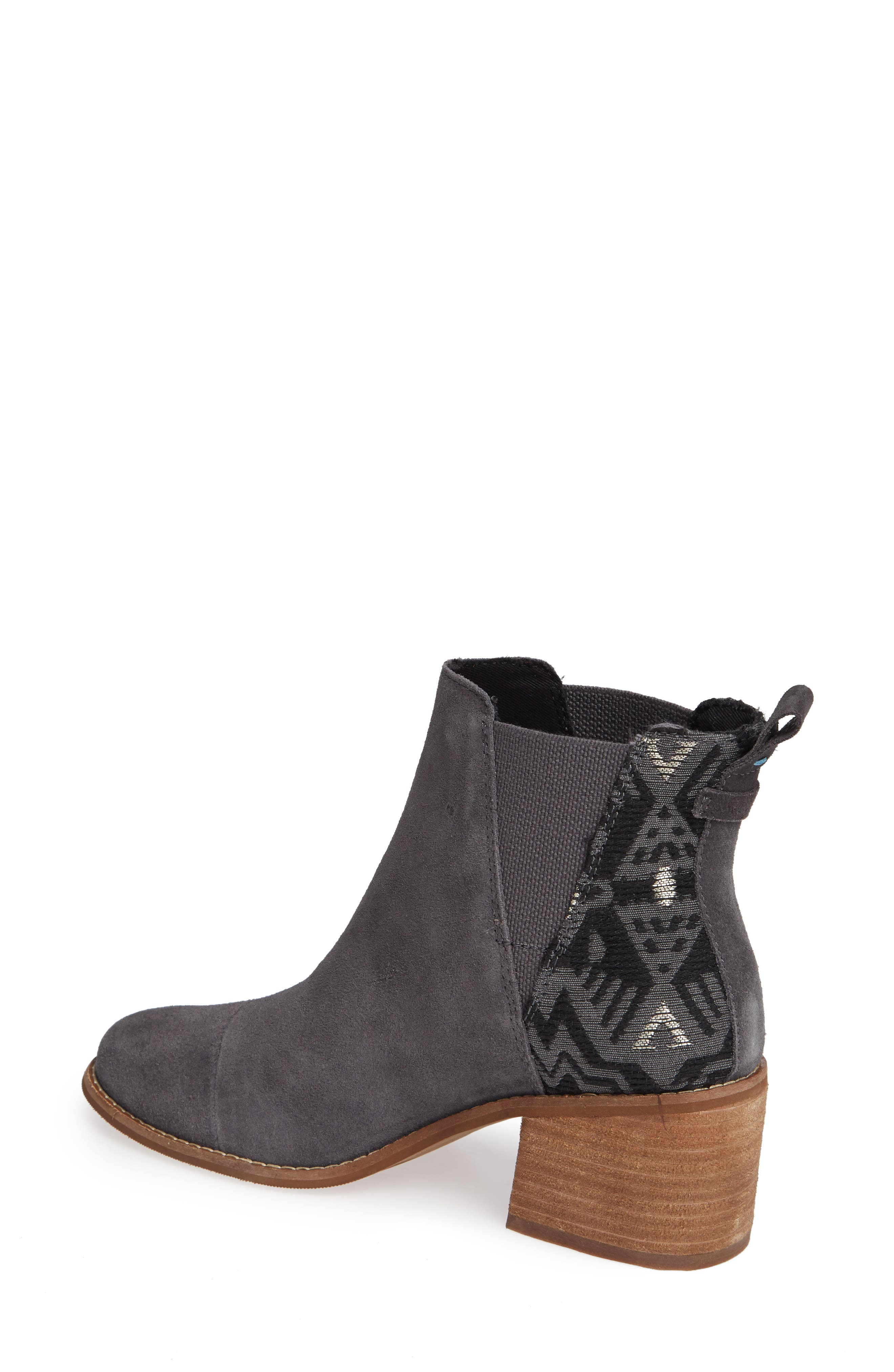 Esme Bootie,                             Alternate thumbnail 2, color,                             FORGED IRON SUEDE