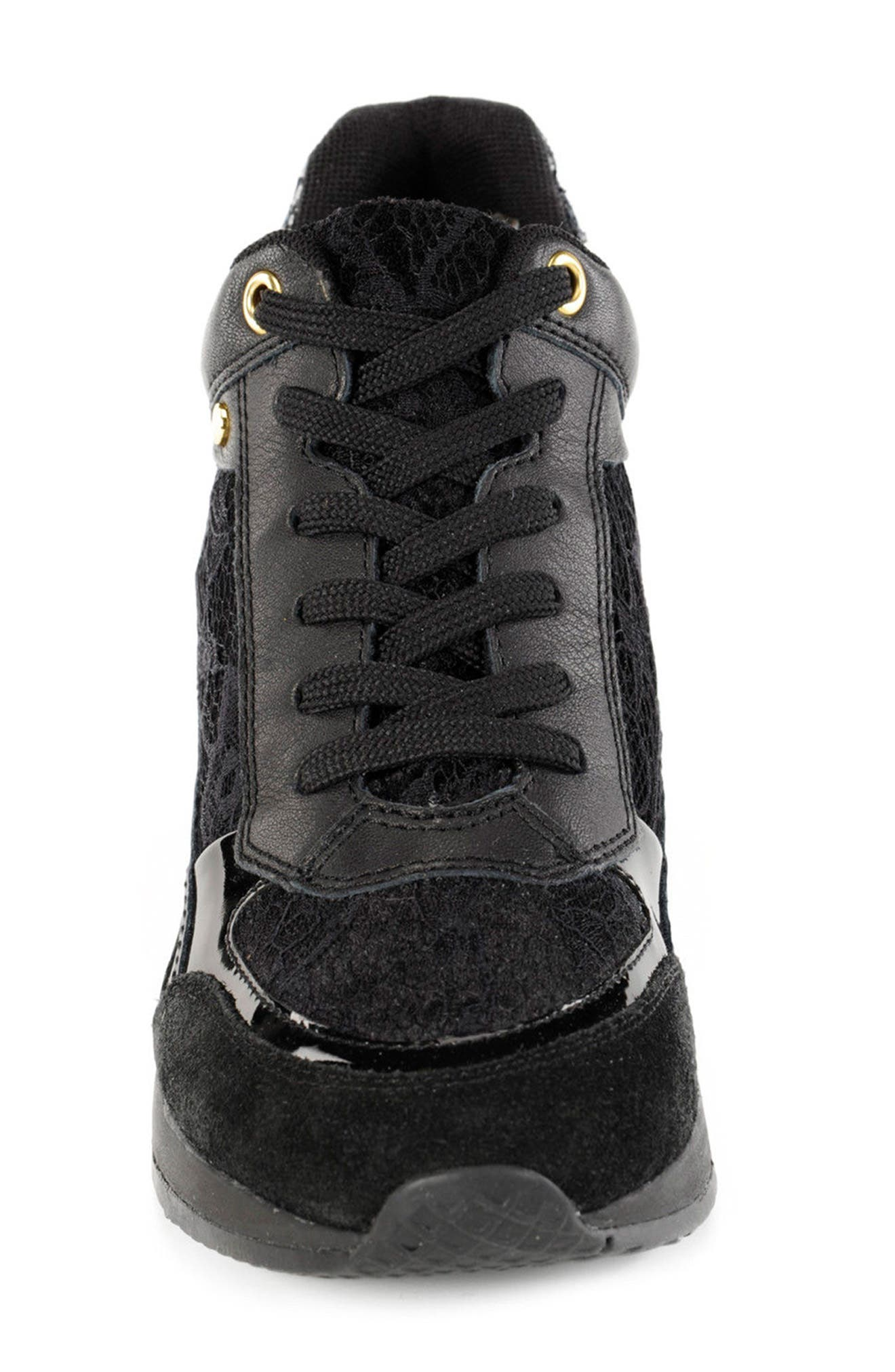 Nydame Wedge Sneaker,                             Alternate thumbnail 4, color,                             001
