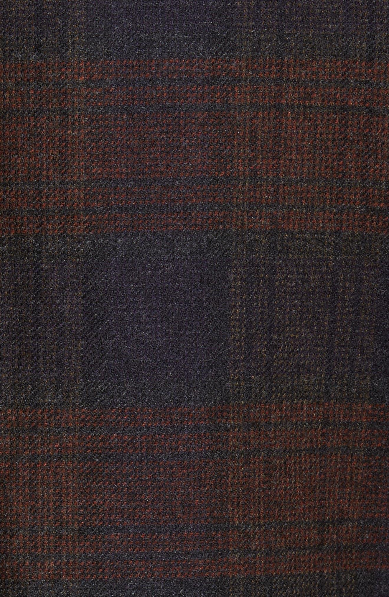 Plaid Wool Sport Coat,                             Alternate thumbnail 6, color,                             021