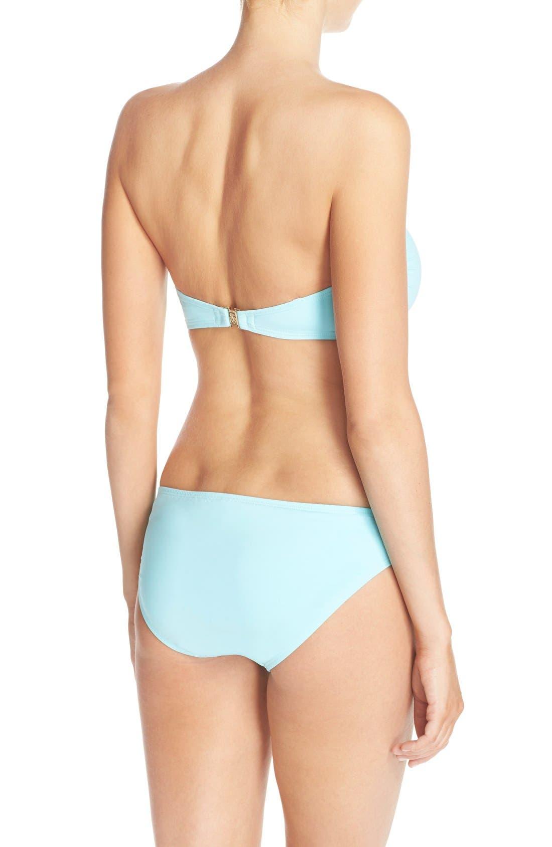 Side Shirred Hipster Bikini Bottoms,                             Alternate thumbnail 2, color,                             400