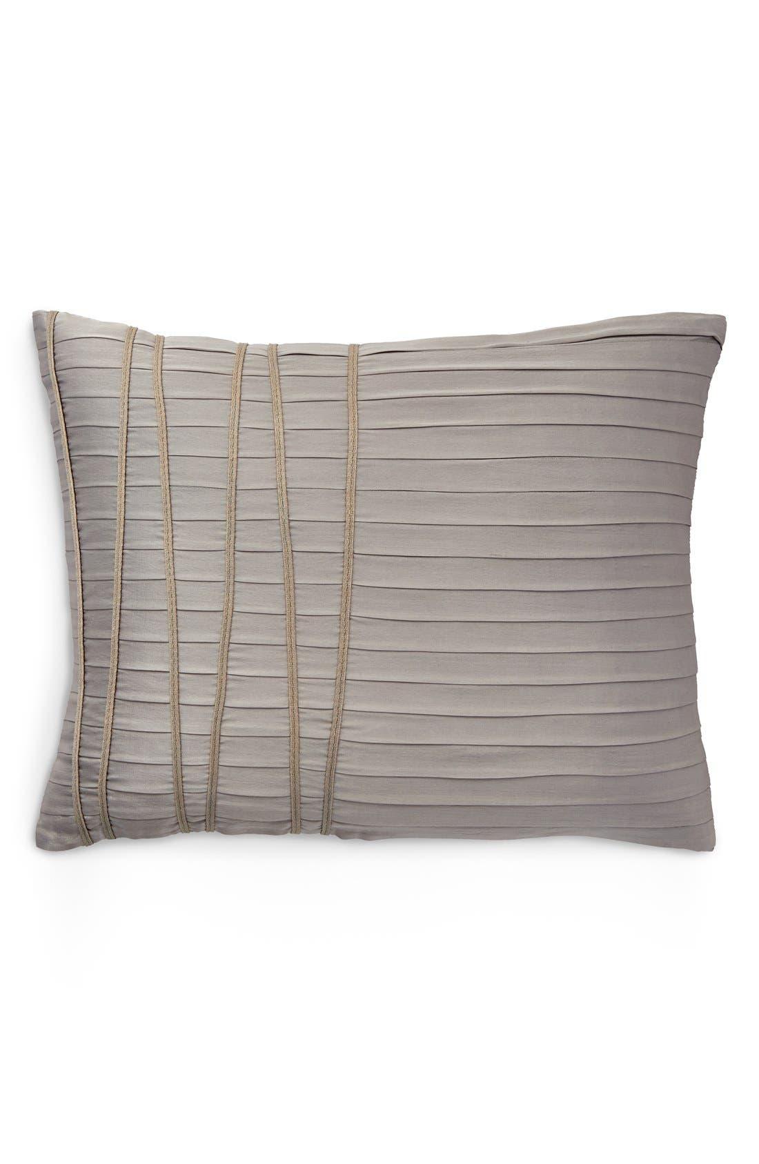 DONNA KARAN NEW YORK,                             Donna Karan Collection 'Reflection' Accent Pillow,                             Main thumbnail 1, color,                             SILVER