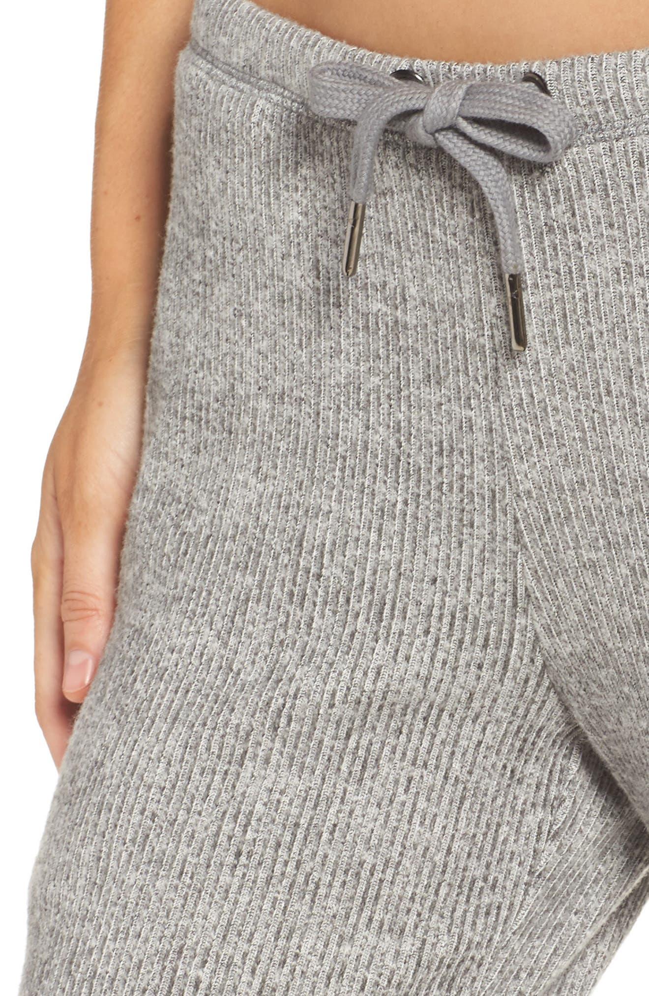 Knit Lounge Pants,                             Alternate thumbnail 4, color,                             020