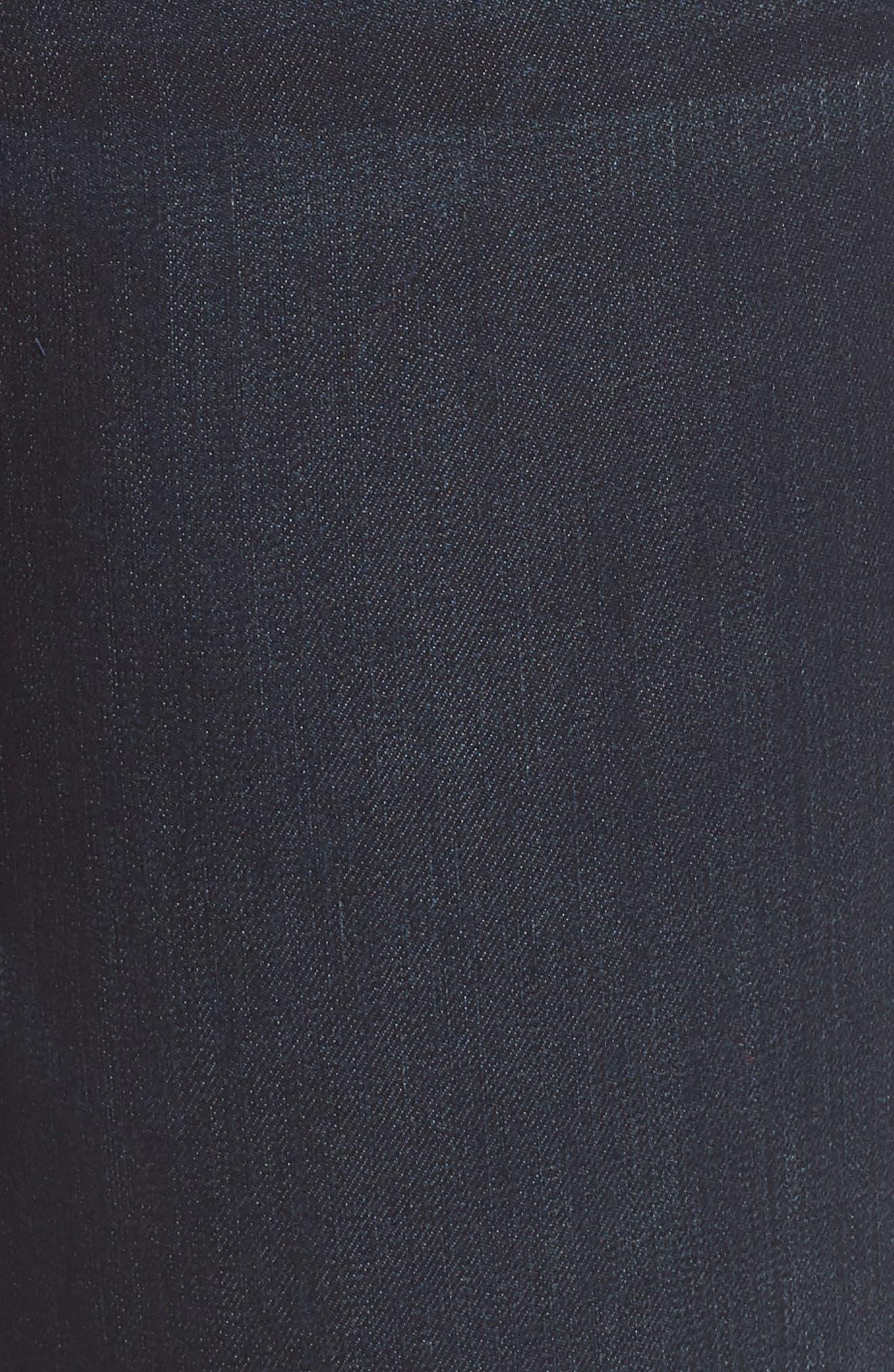 Stretch Denim Bermuda Shorts,                             Alternate thumbnail 6, color,                             402