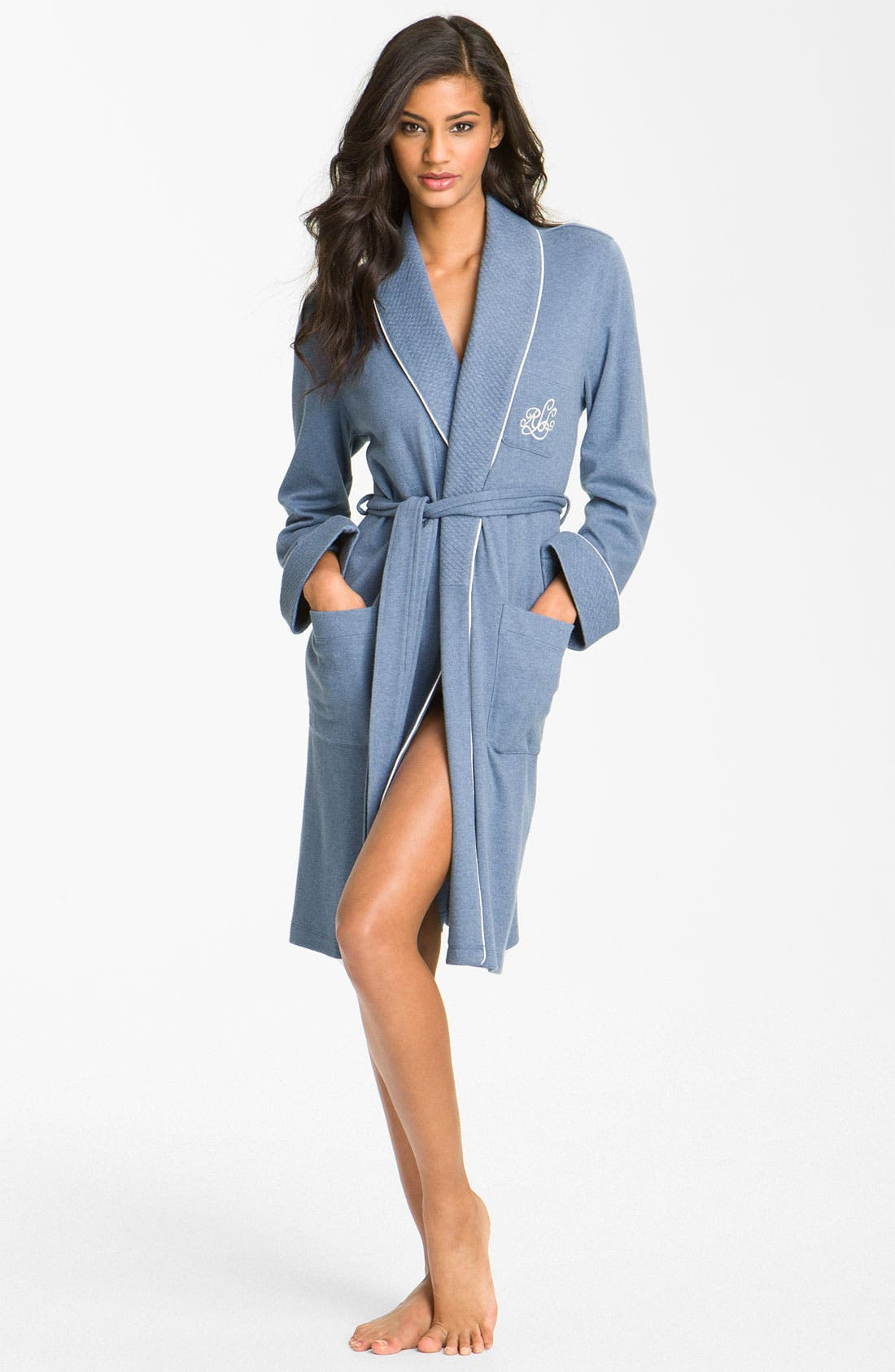 Quilted Collar Robe,                             Main thumbnail 6, color,