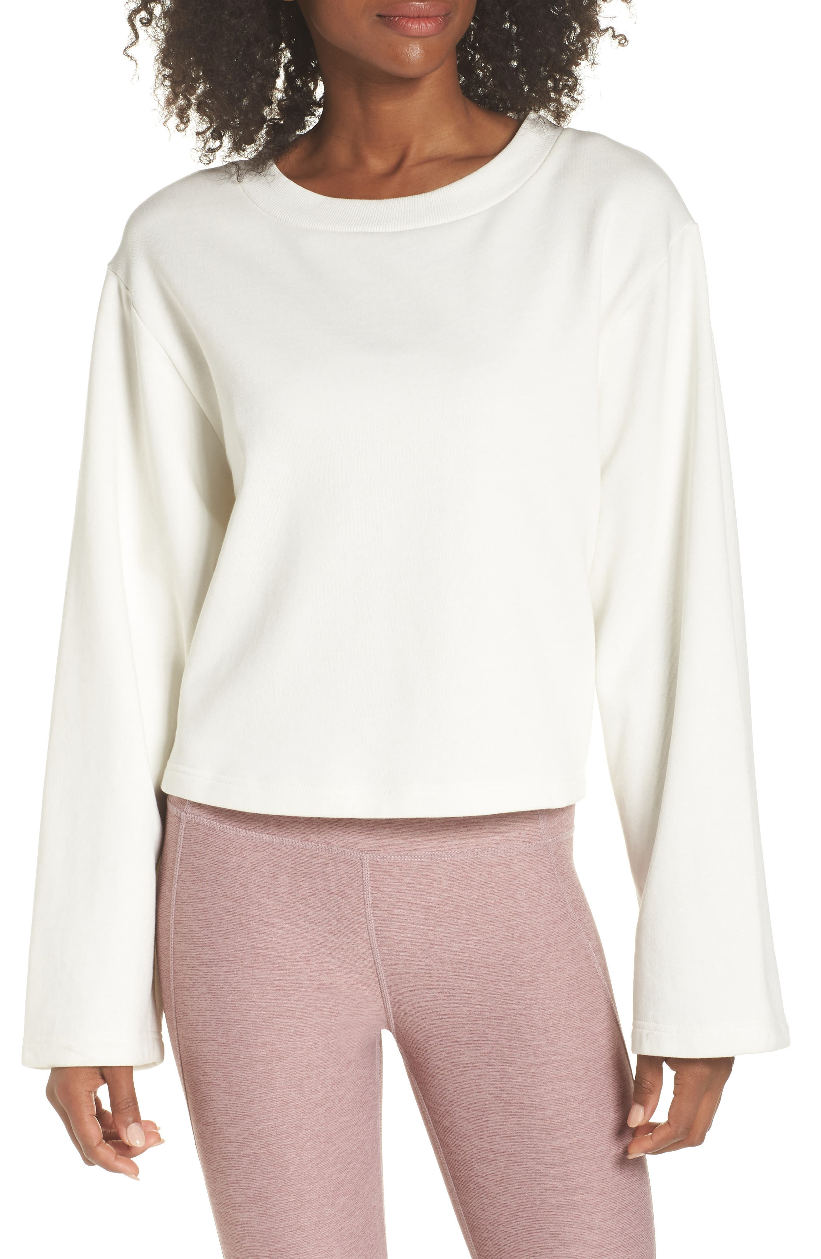 Weymouth Sweatshirt,                         Main,                         color, IVORY