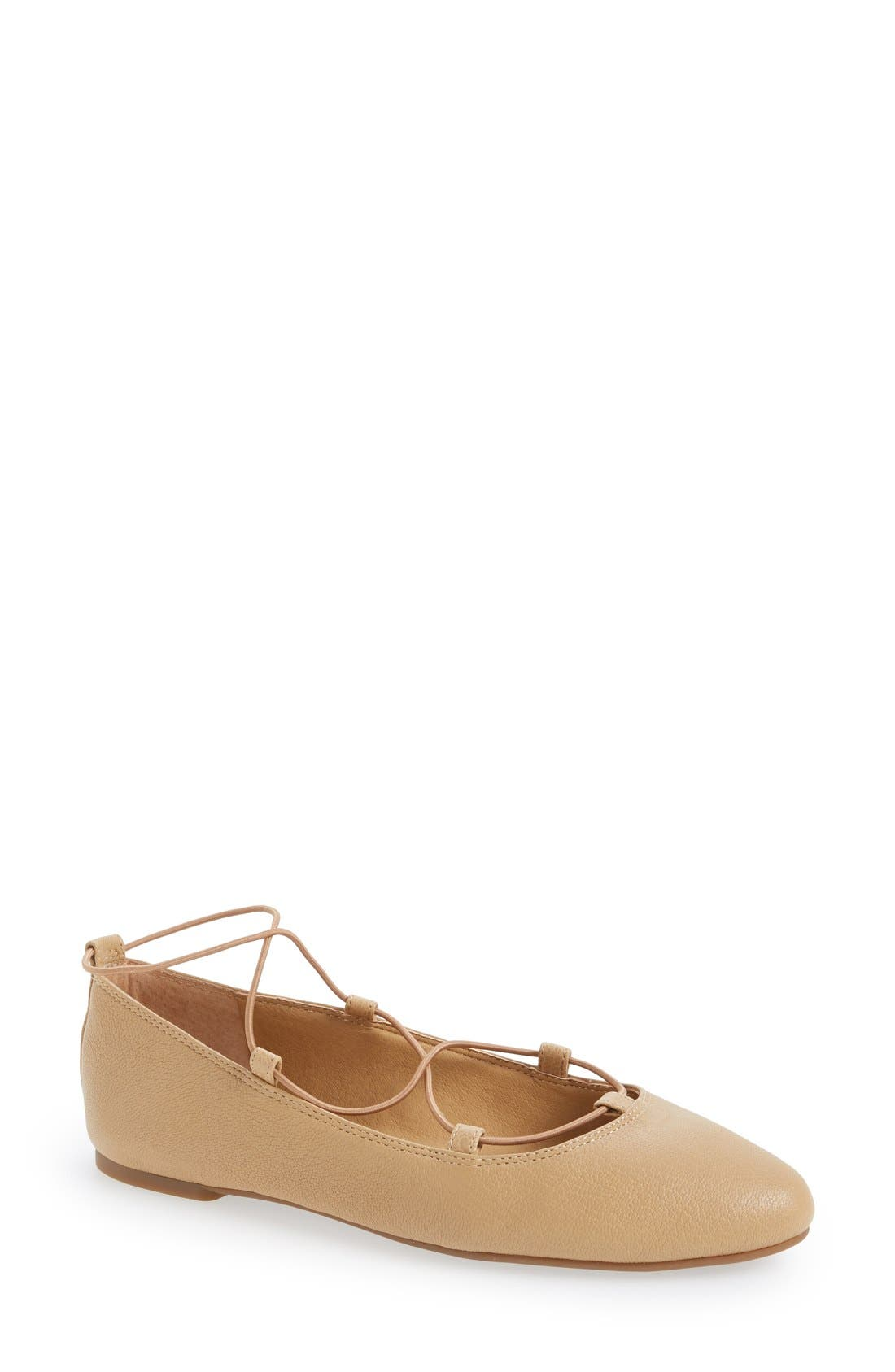 'Aviee' Lace-Up Flat,                             Main thumbnail 7, color,