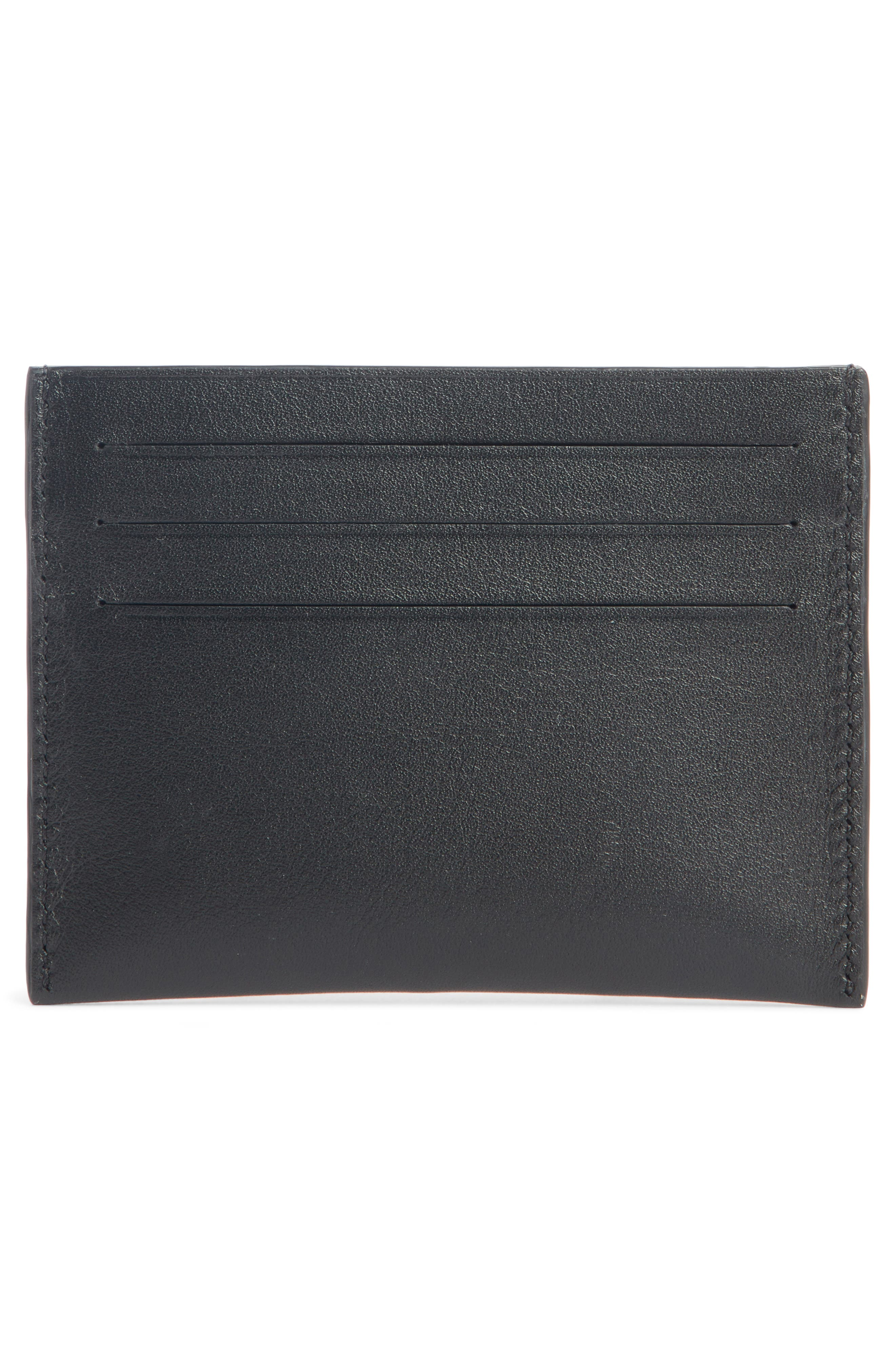 Address Leather Card Case,                             Alternate thumbnail 2, color,                             BLACK