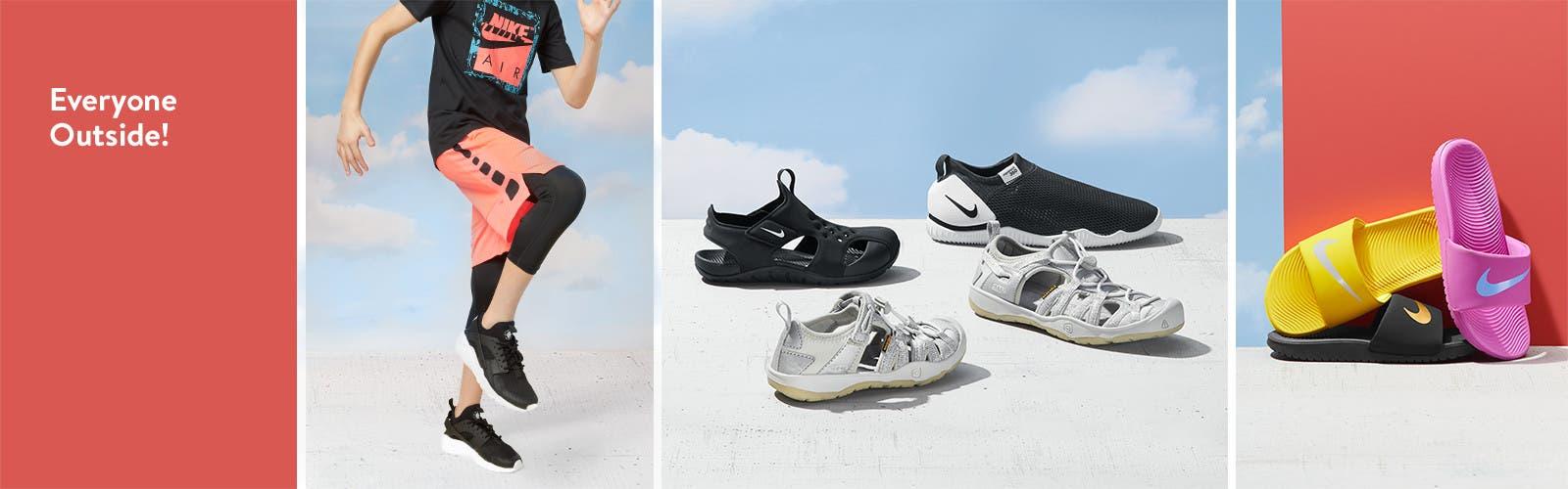 Everyone outside: boys' shoes.