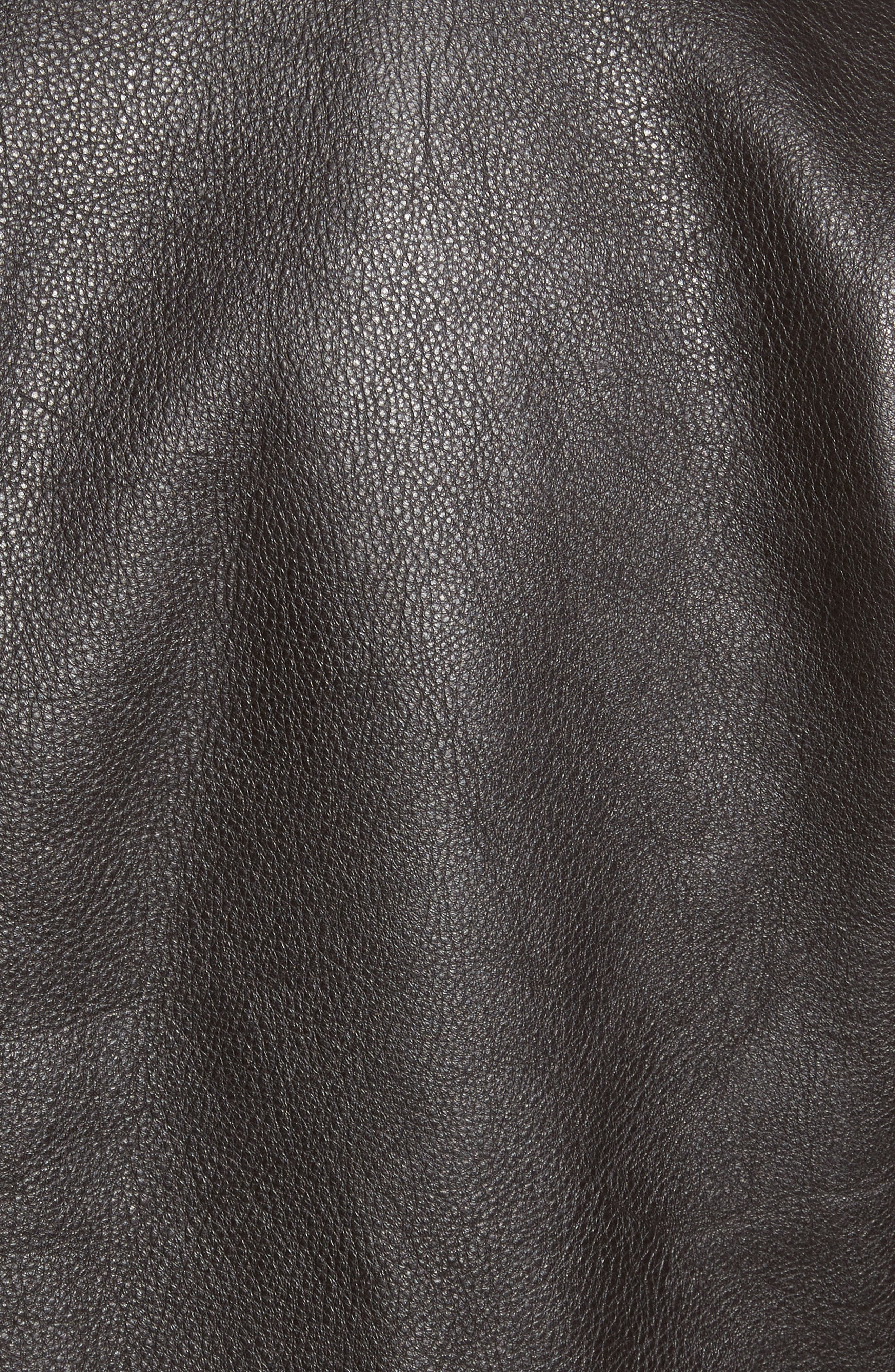 Year Round Leather Jacket,                             Alternate thumbnail 6, color,