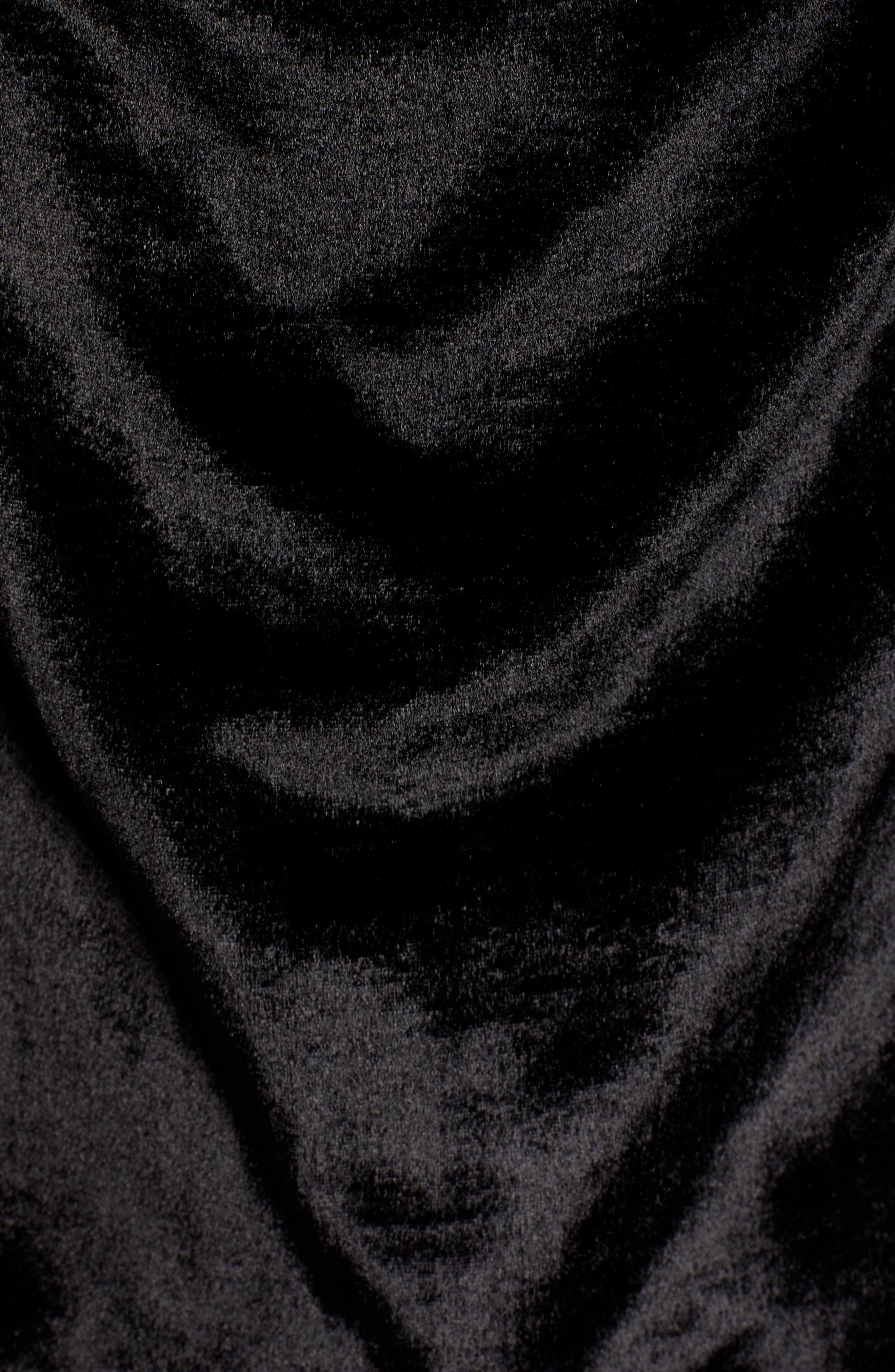 Cowl Neck Mixed Media Camisole,                             Alternate thumbnail 5, color,                             BLACK