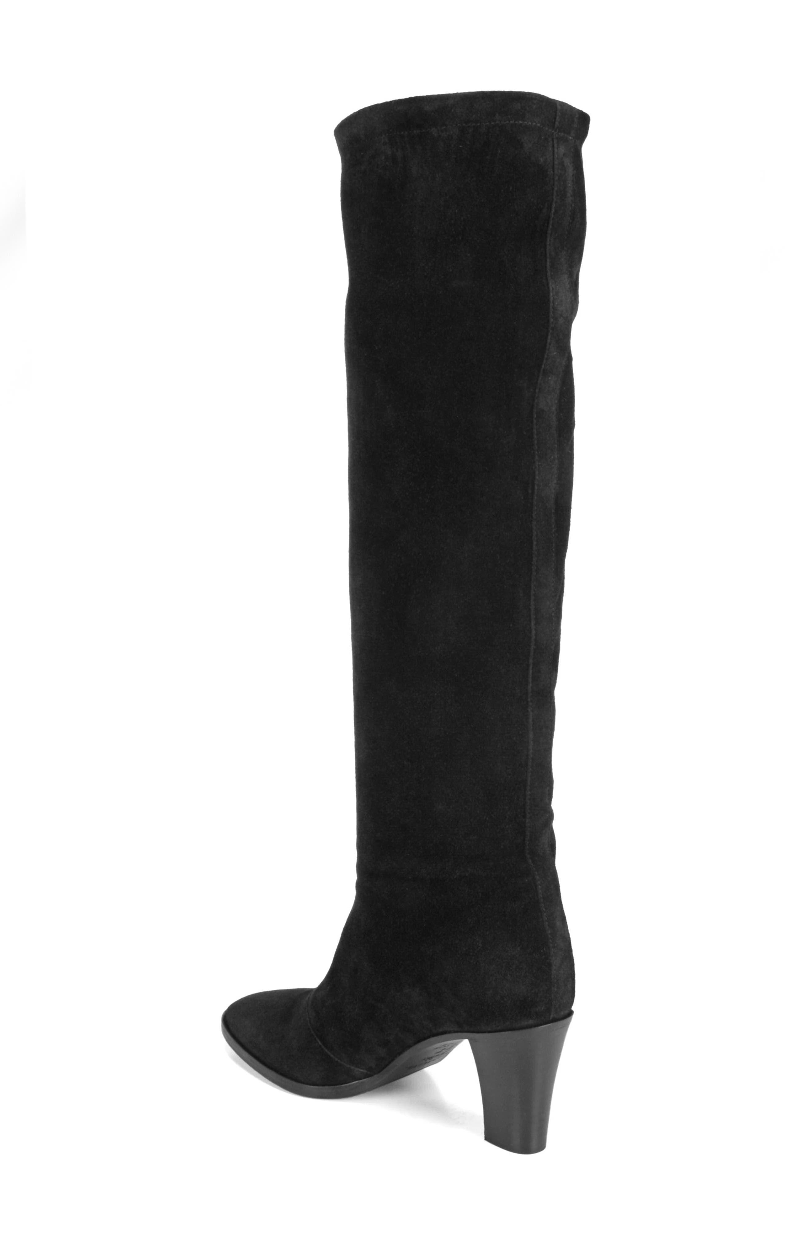 Casper Knee High Pull-On Boot,                             Alternate thumbnail 2, color,                             BLACK
