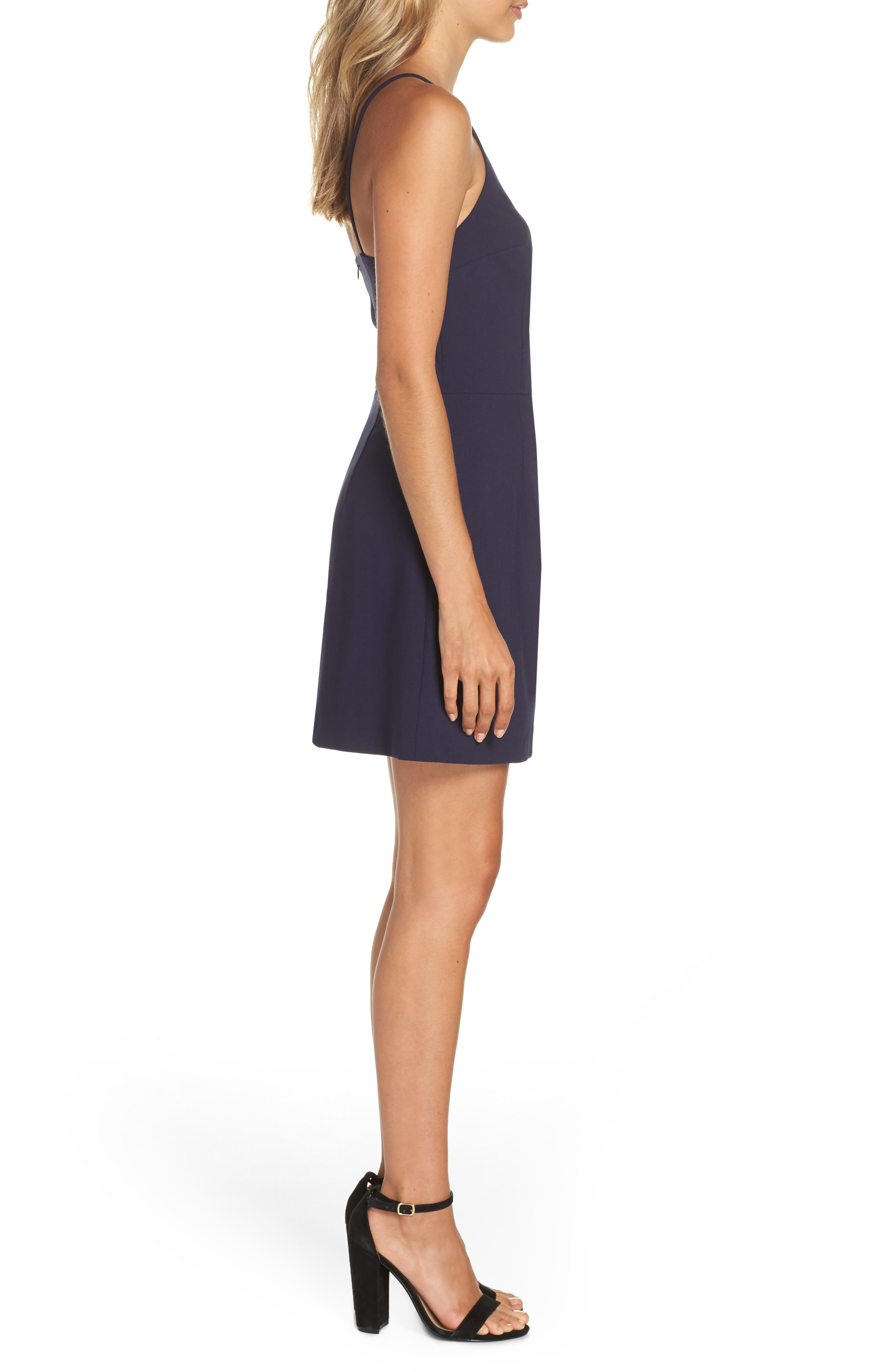 Whisper Light Sheath Dress,                             Alternate thumbnail 3, color,                             DUCHESS BLUE