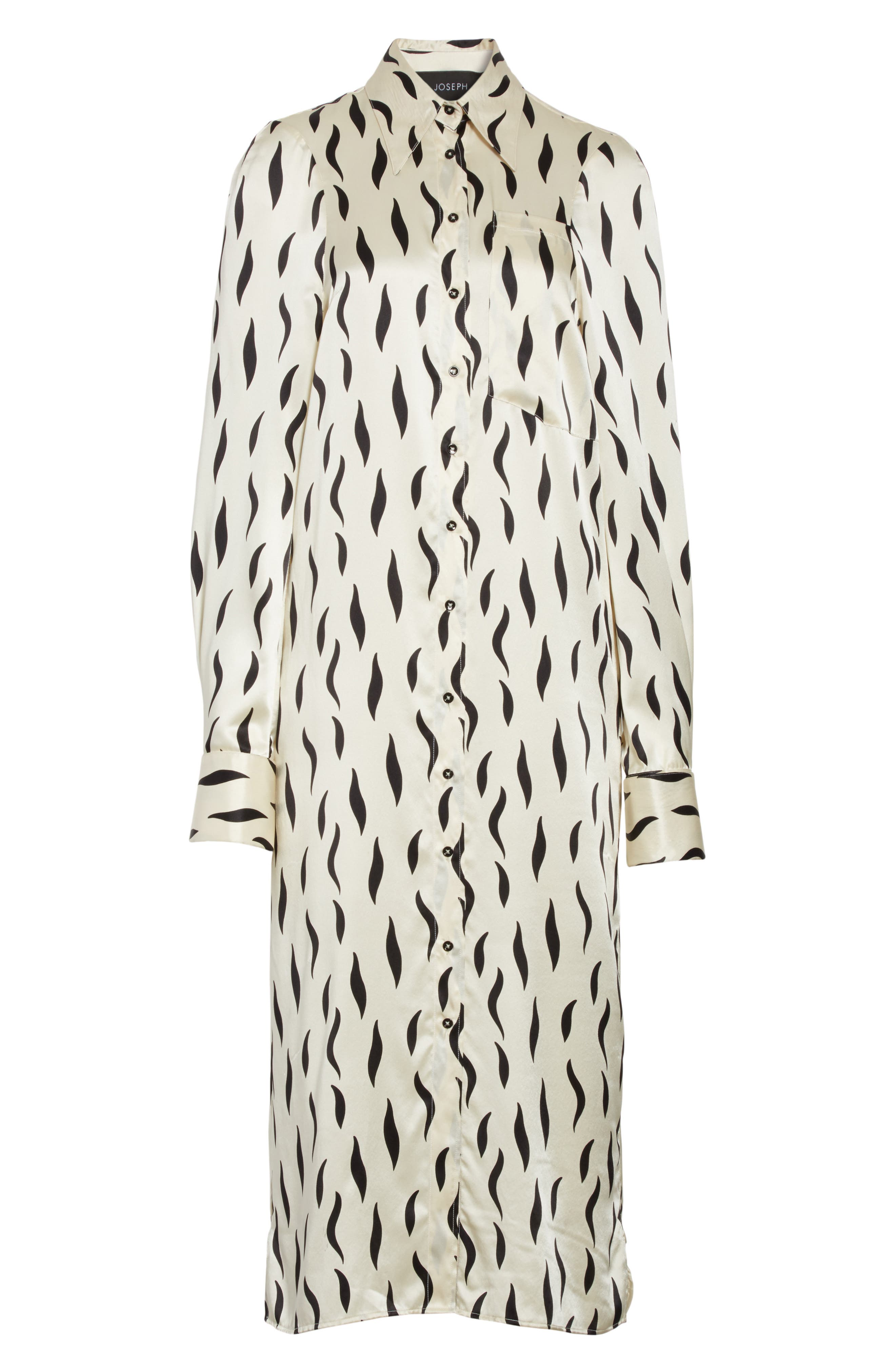 Cassidy Long Zebra Silk Dress,                             Alternate thumbnail 6, color,                             906