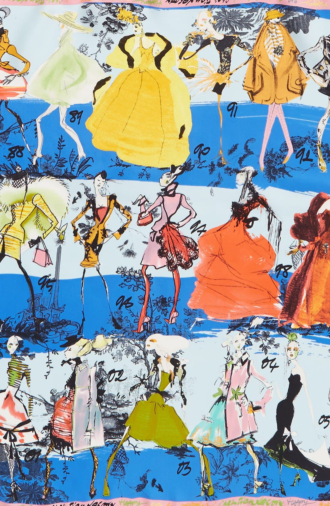 '20 Ans' Square Silk Scarf,                             Alternate thumbnail 11, color,
