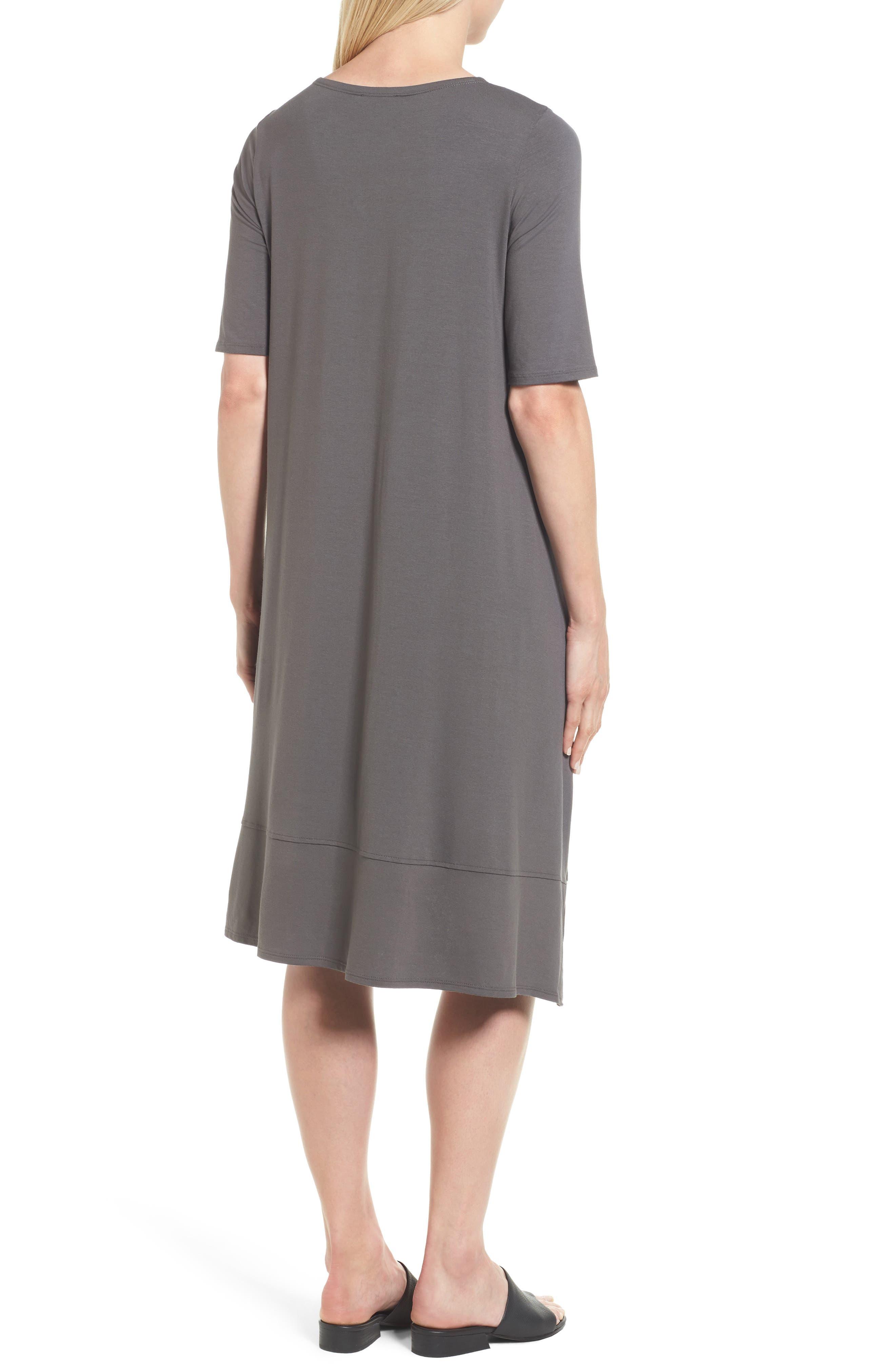 Jersey Asymmetrical A-Line Dress,                             Alternate thumbnail 7, color,