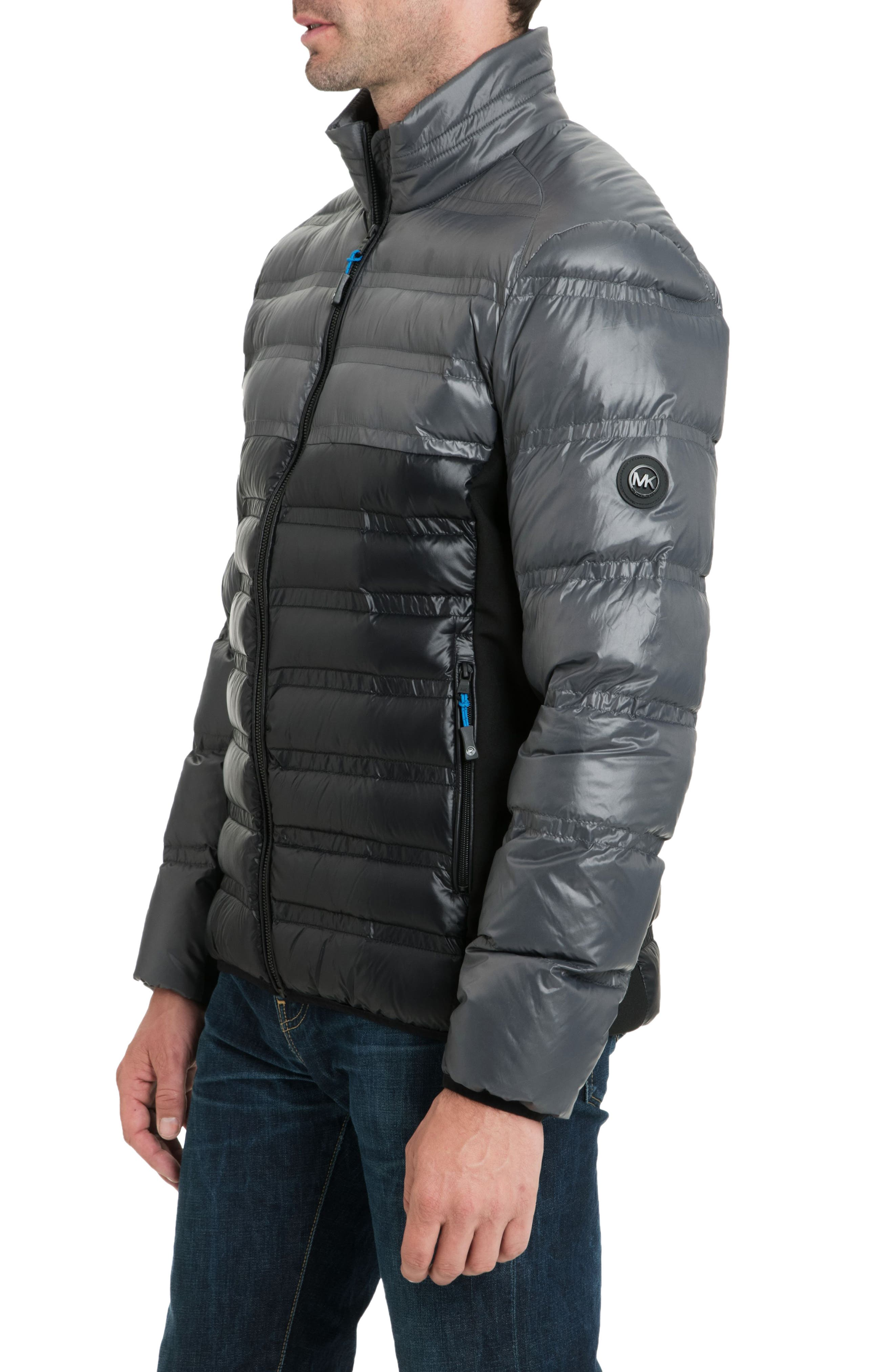 Hartwick Down Insulated Jacket,                             Alternate thumbnail 3, color,                             GUNMETAL