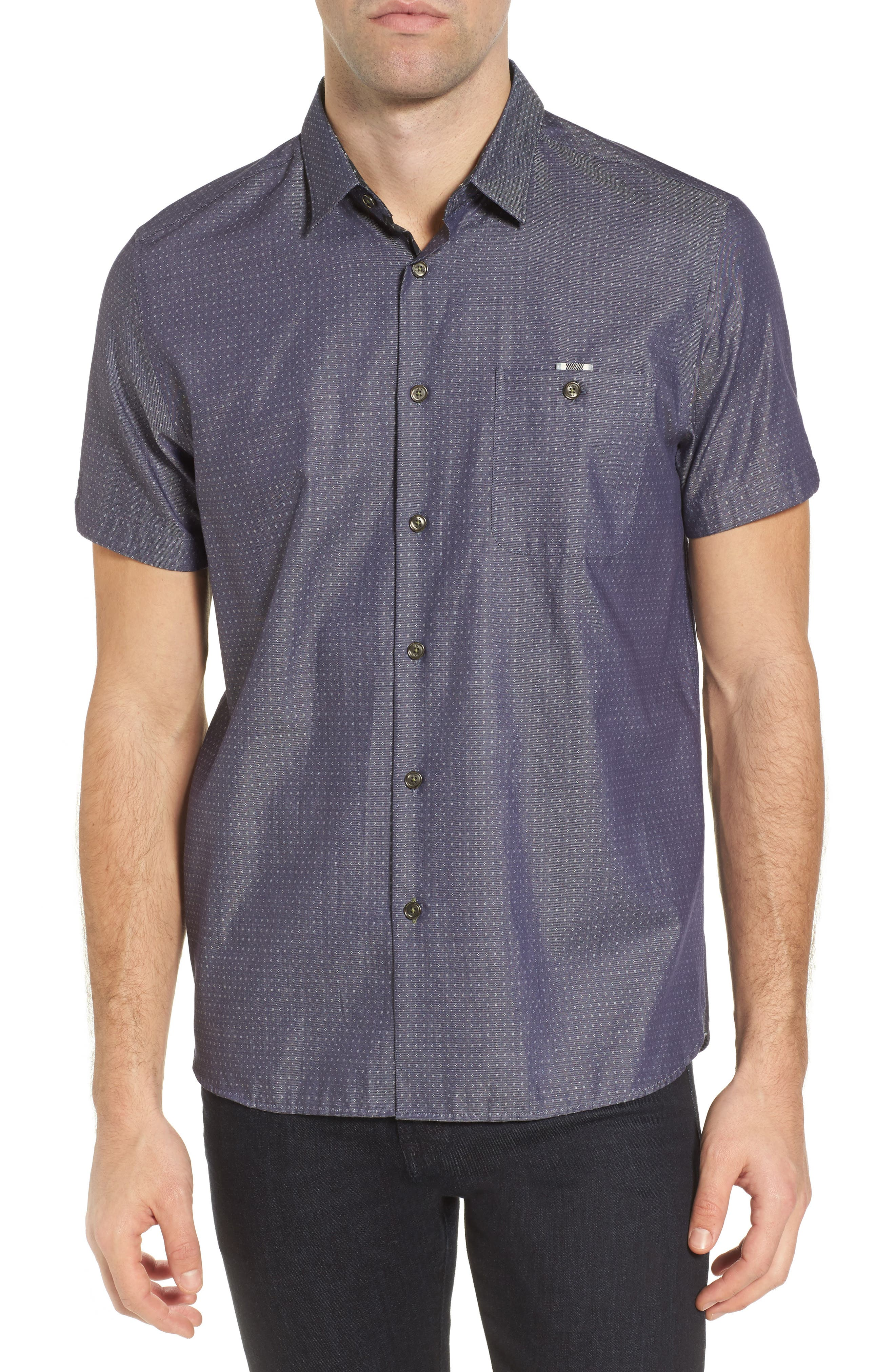 Eligant Denim Sport Shirt,                         Main,                         color, 421