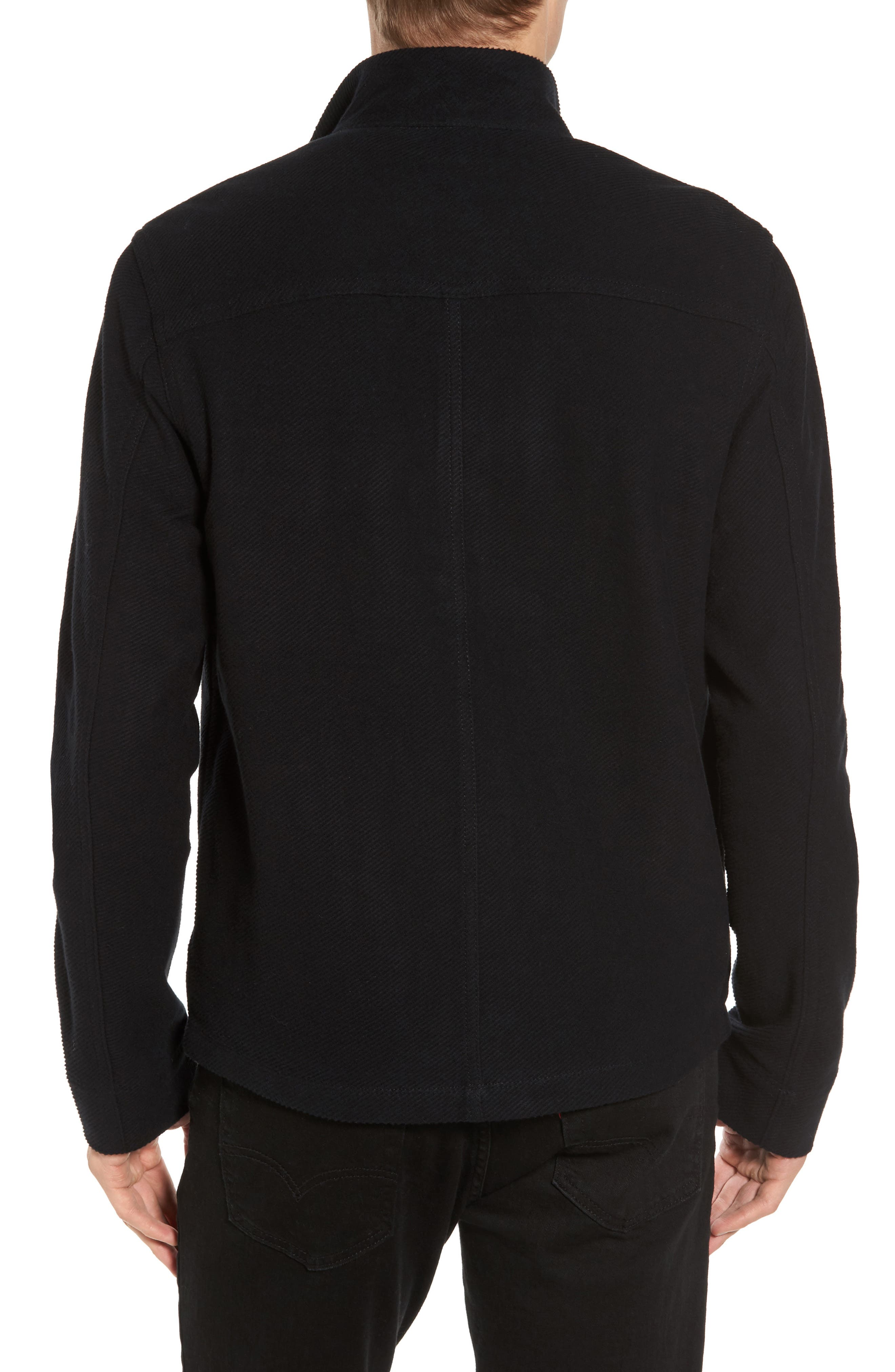 Drill Button Front Knit Jacket,                             Alternate thumbnail 3, color,