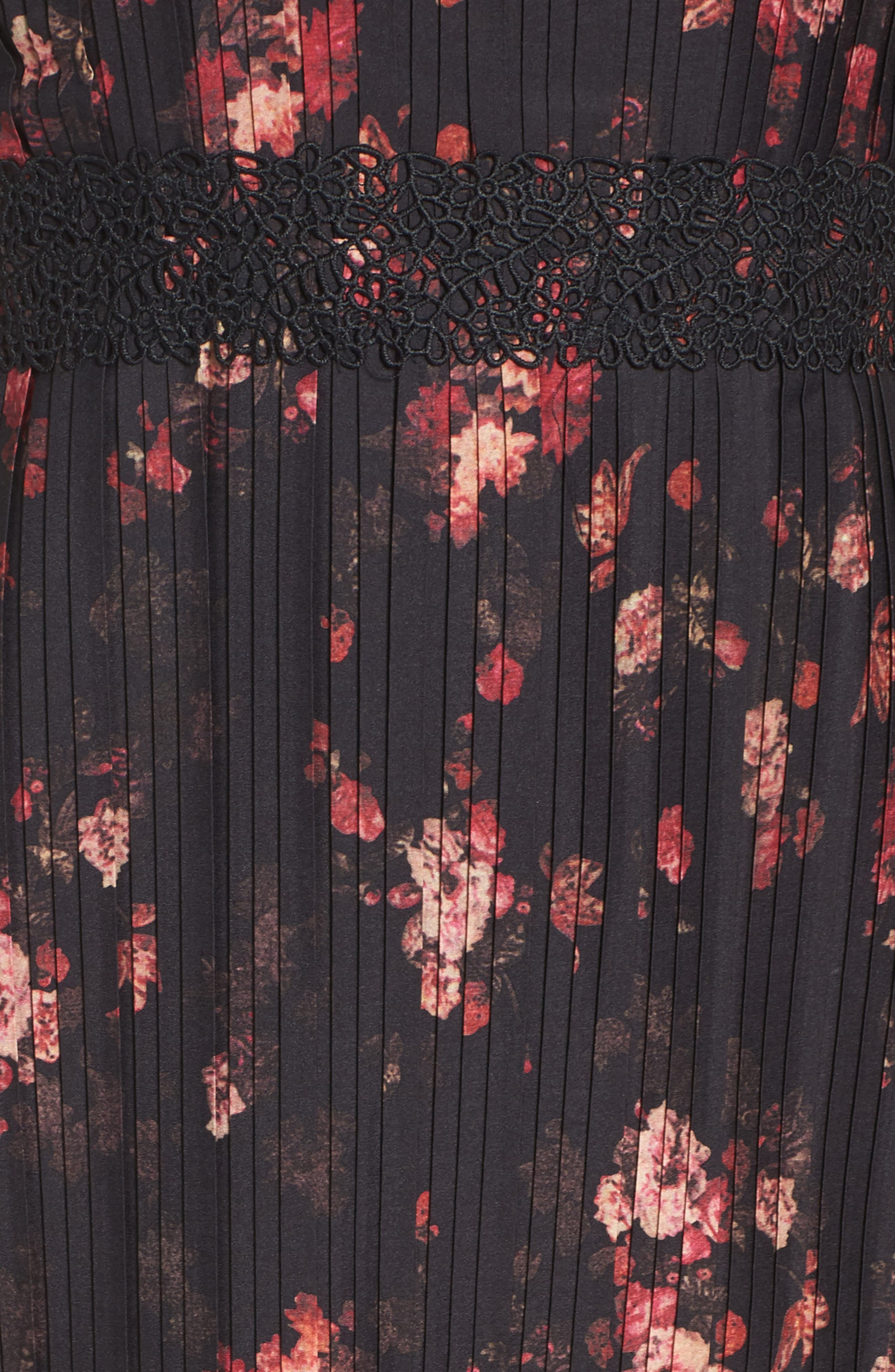 Biella Floral Midi Dress,                             Alternate thumbnail 5, color,                             016