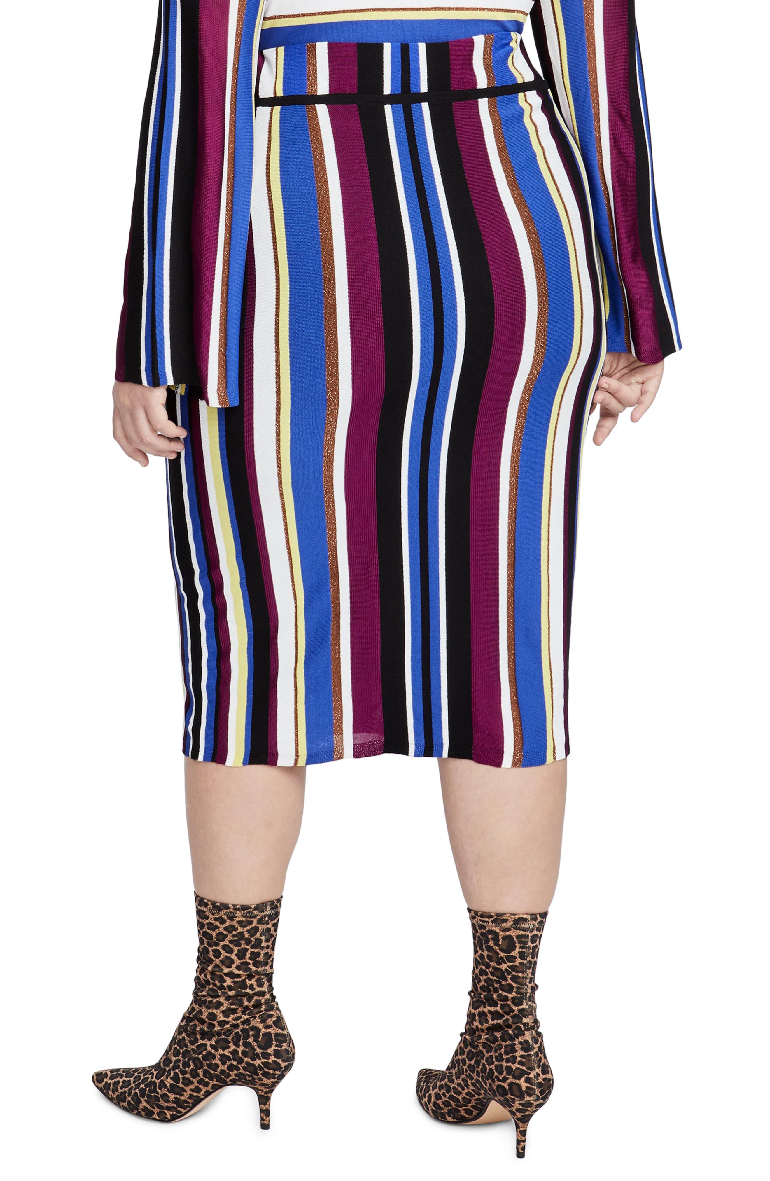Metallic Stripe Pencil Skirt,                             Alternate thumbnail 2, color,                             500
