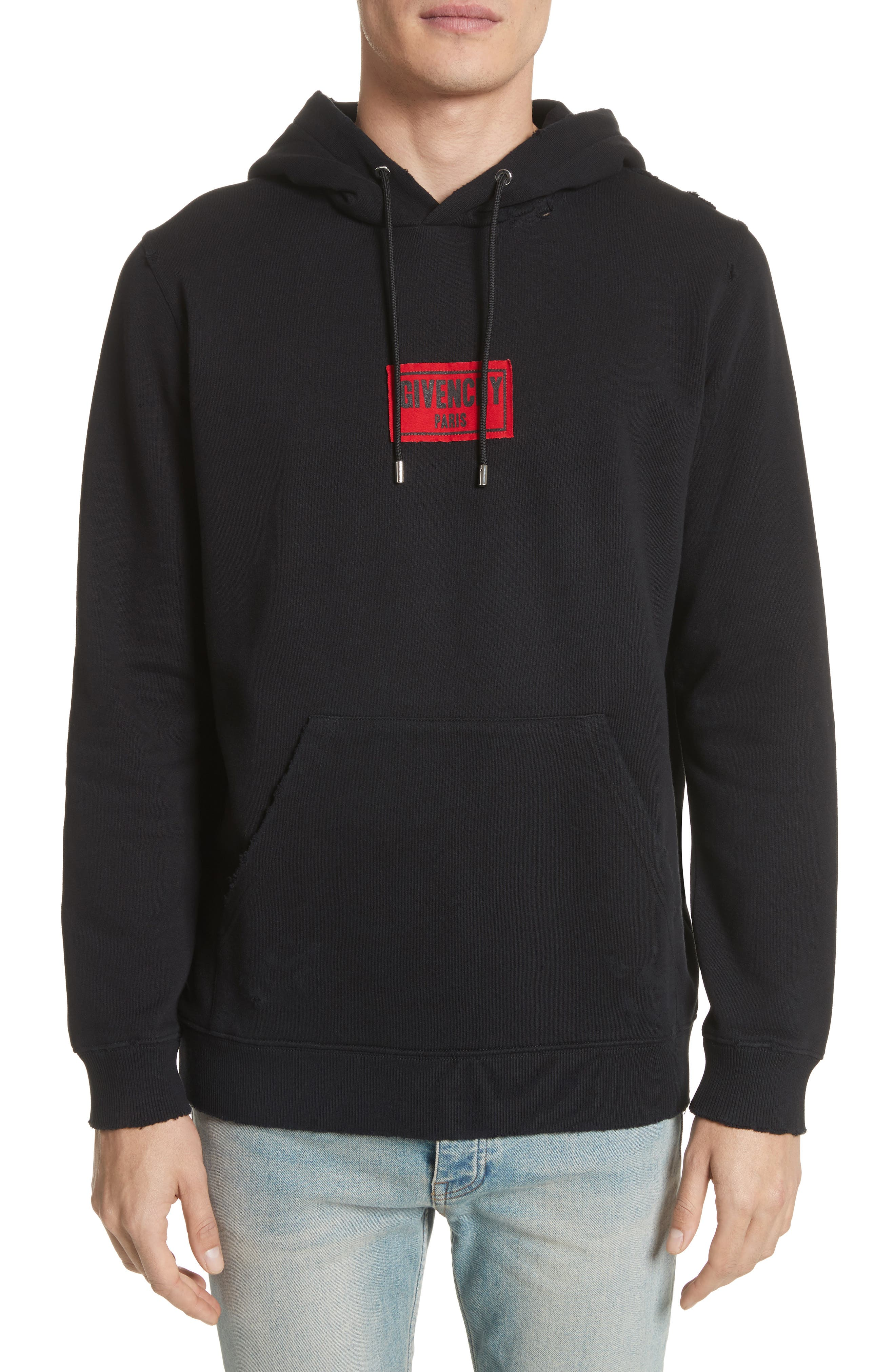 Small Logo Hoodie, Main, color, 001