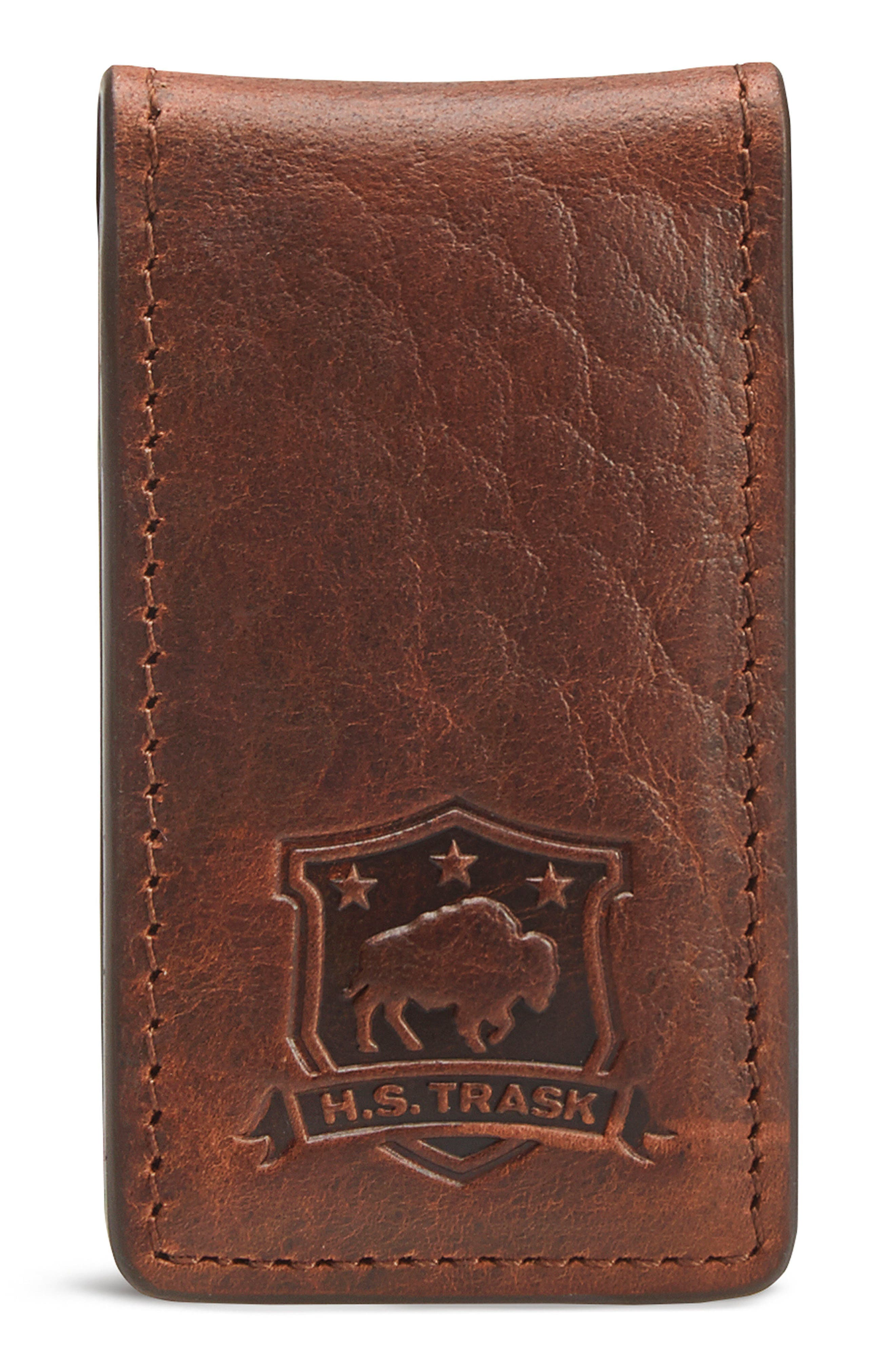 Leather Money Clip,                             Main thumbnail 1, color,                             211