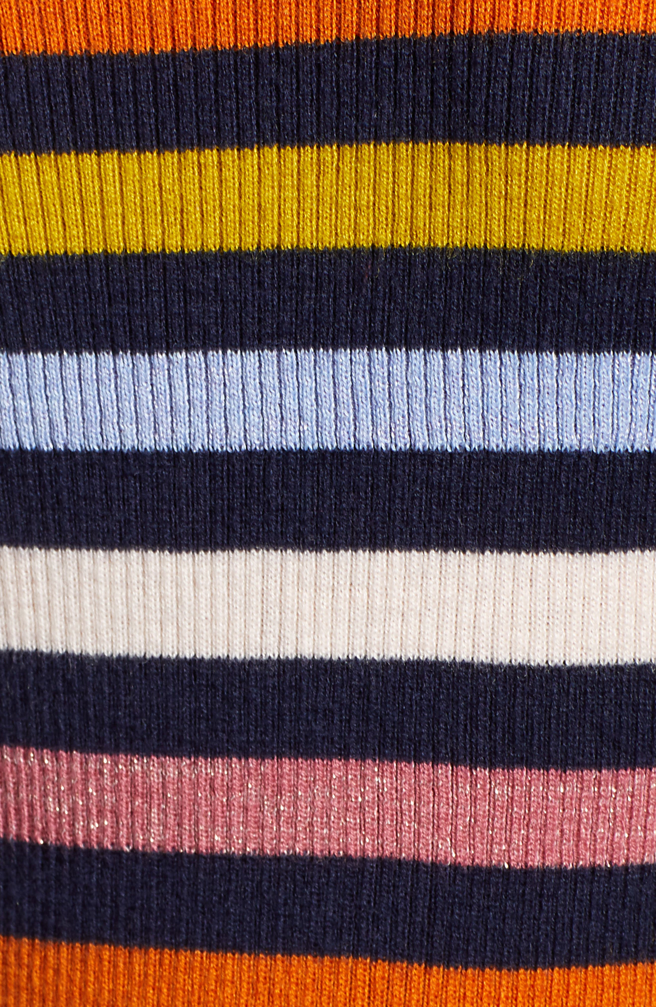 x Atlantic-Pacific Shimmer Stripe Sweater,                             Alternate thumbnail 6, color,                             NAVY MULTI STRIPE