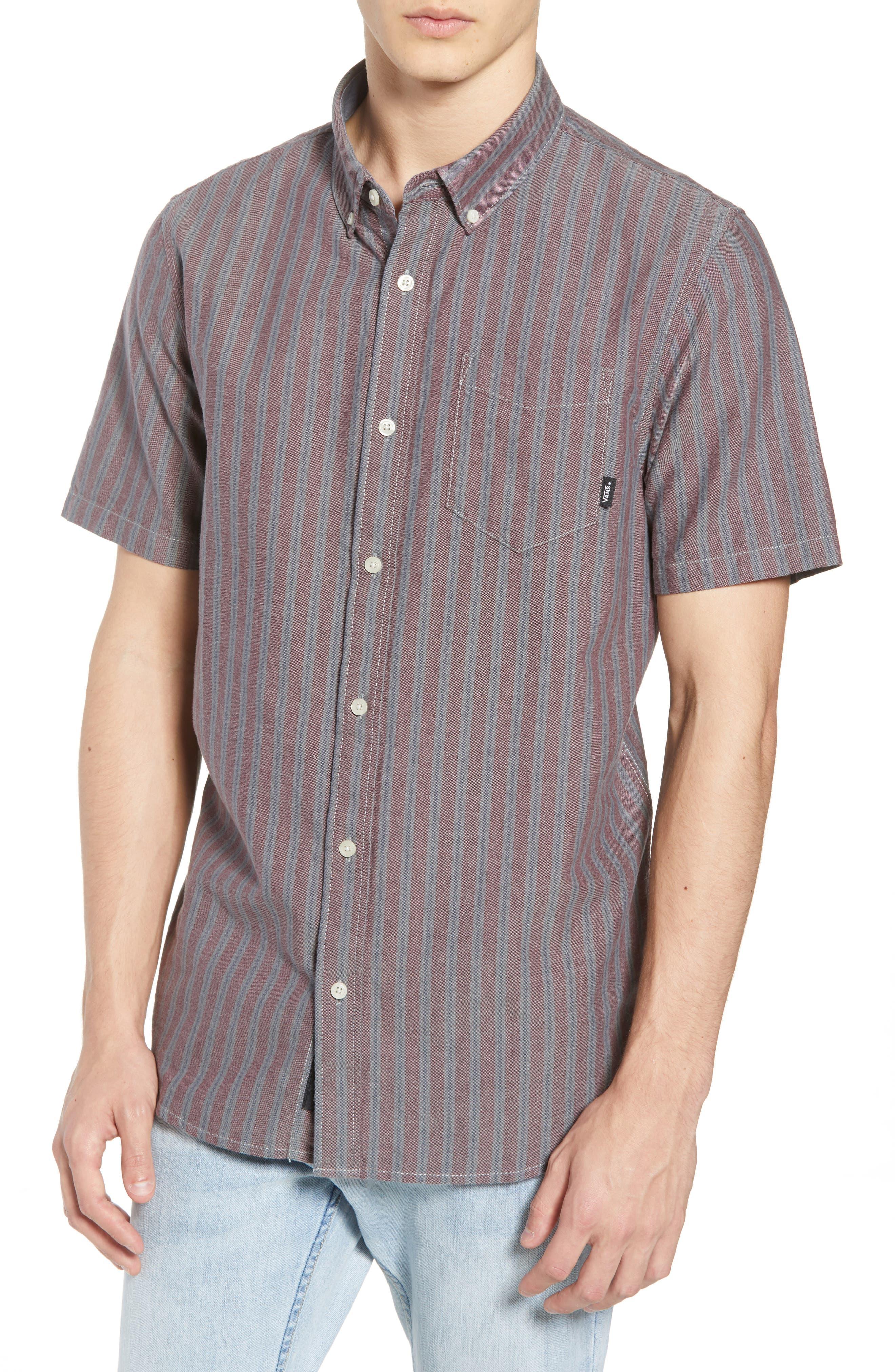 Houser Woven Shirt,                         Main,                         color, PORT ROYALE STRIPE