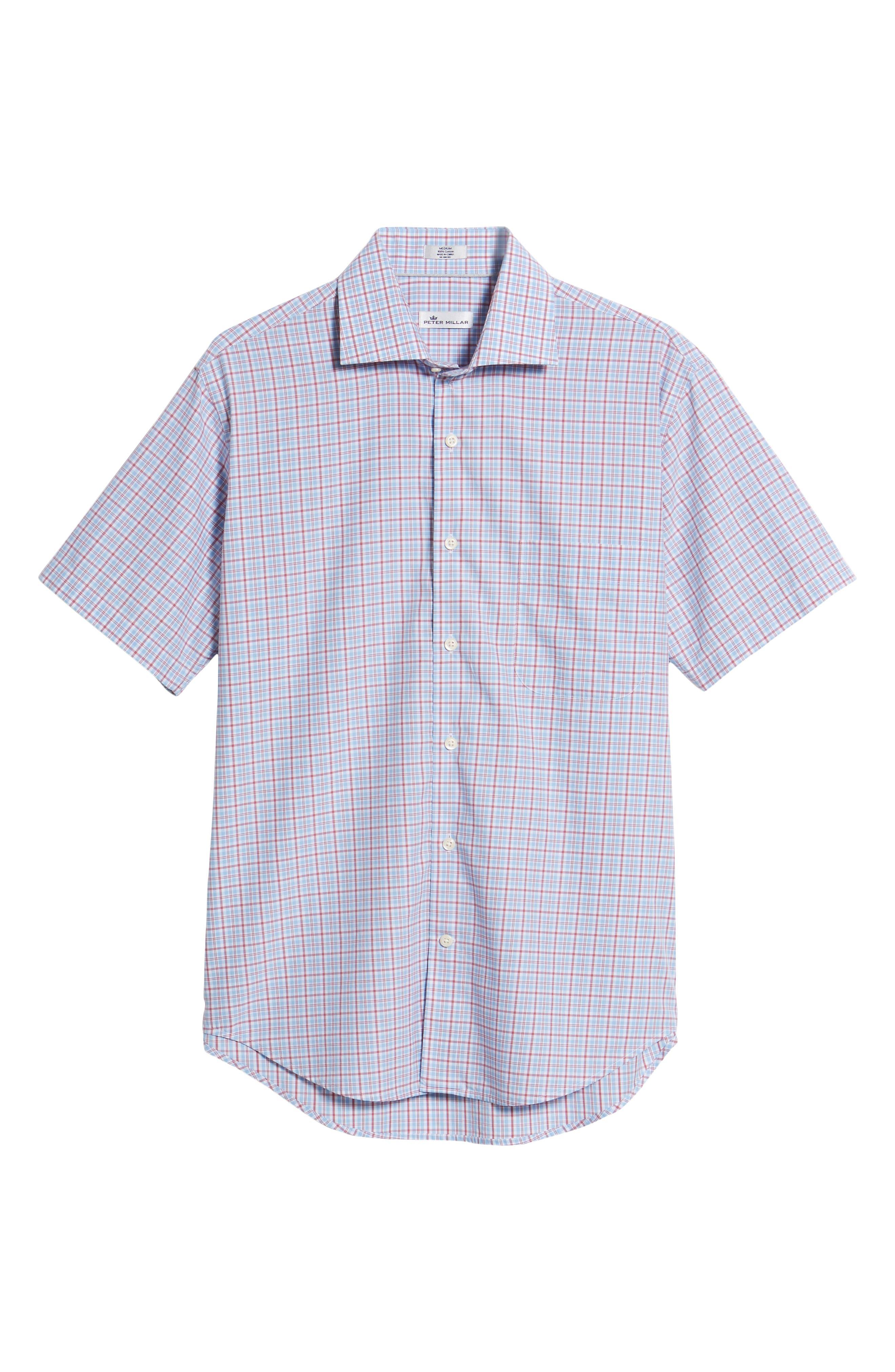 Delridge Regular Fit Tartan Sport Shirt,                             Alternate thumbnail 6, color,                             400