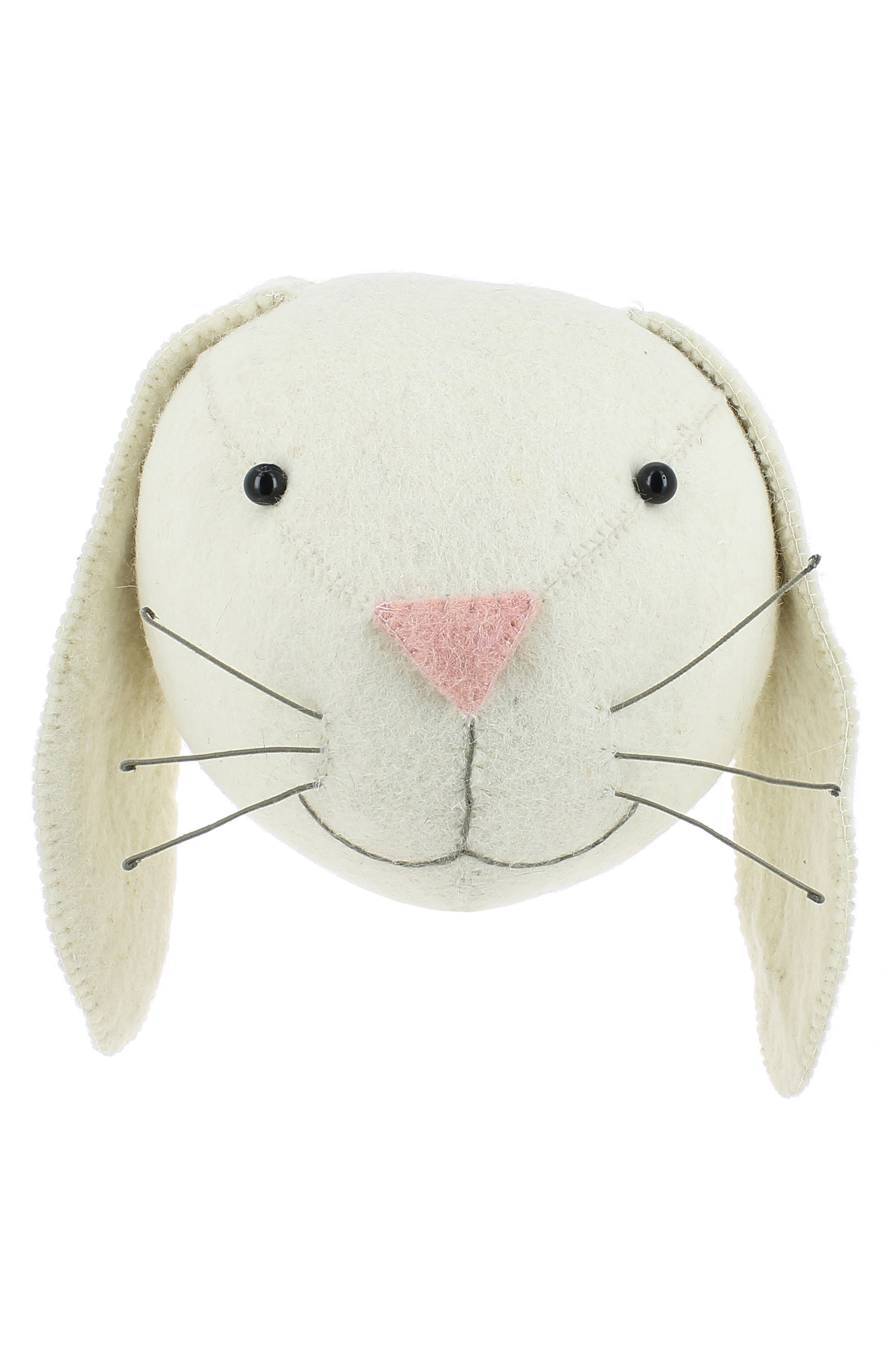 Fiona Walker Bunny Head Wall Art Size One Size  Ivory