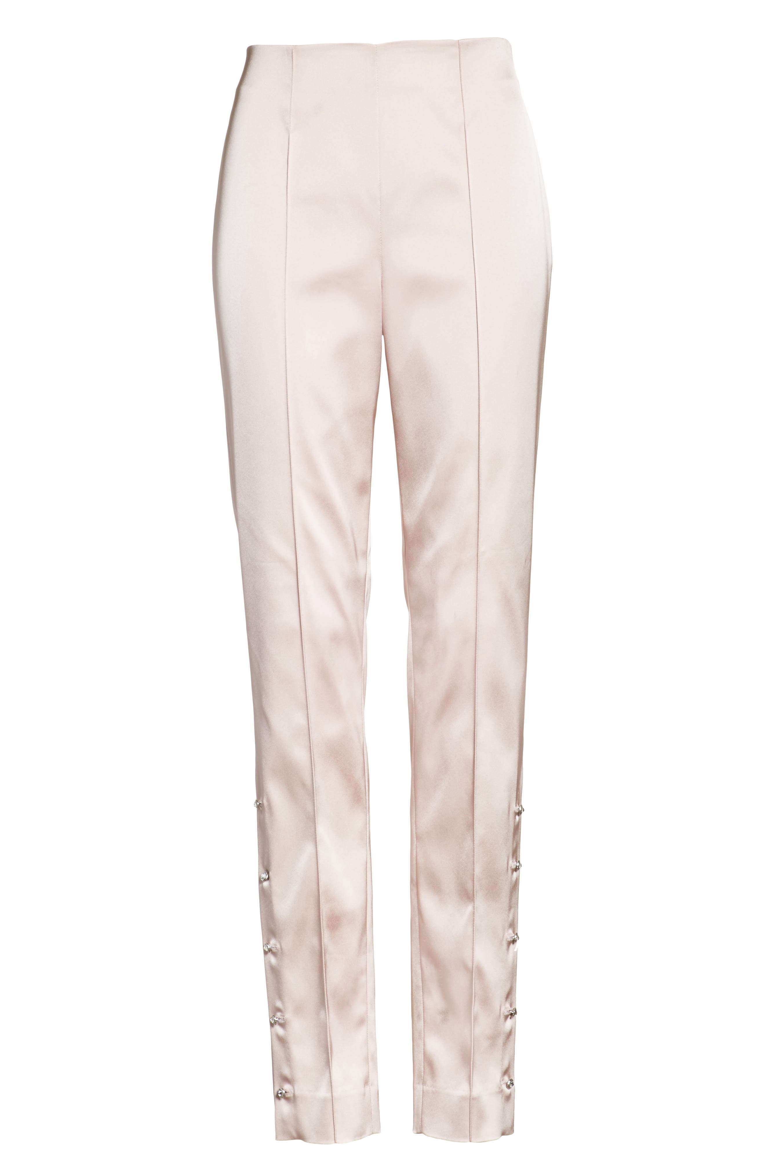 Stretch Satin Ankle Pants,                             Alternate thumbnail 6, color,                             680