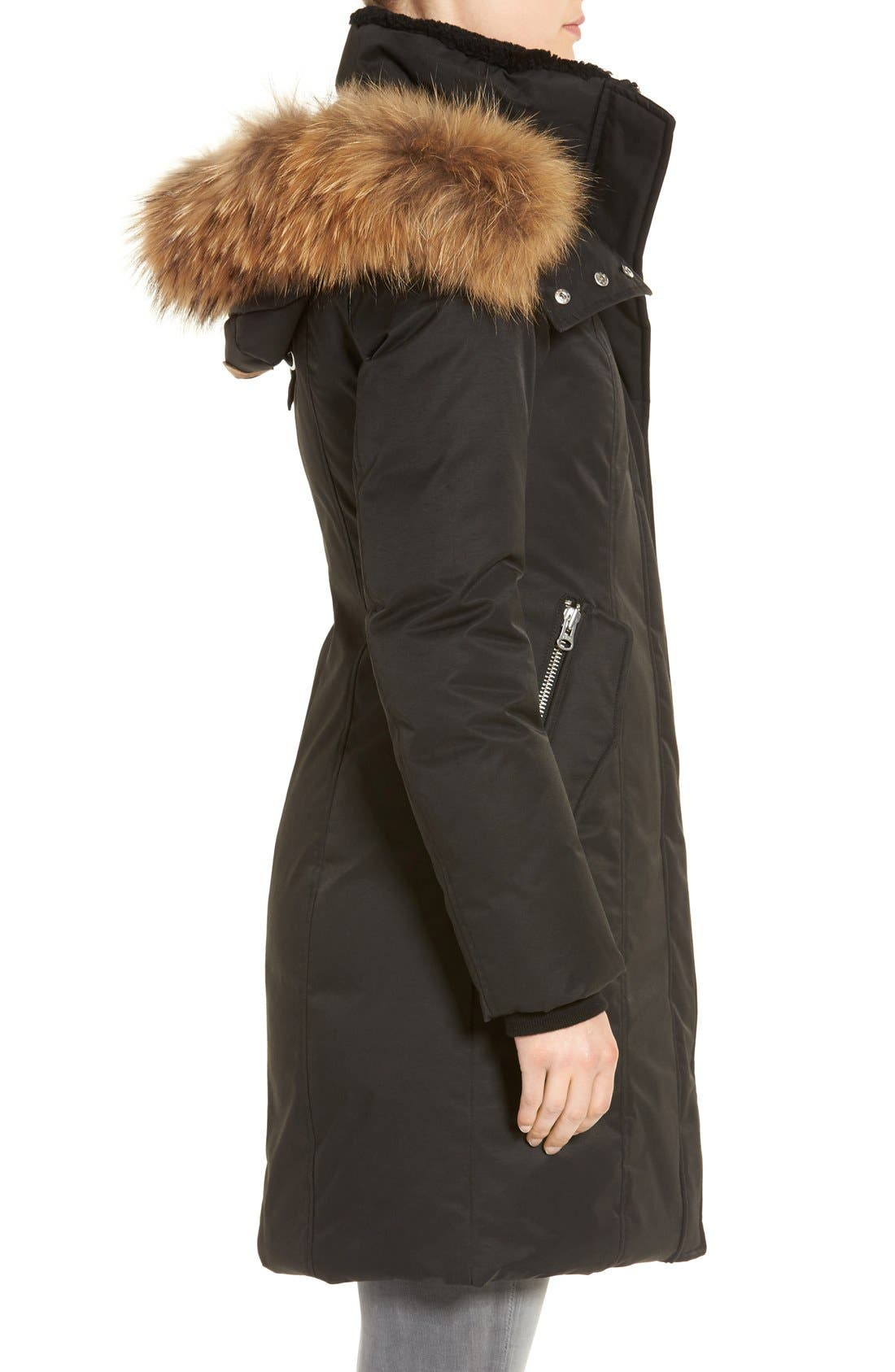 'Kerry' Genuine Coyote Fur Trim Down Parka,                             Alternate thumbnail 9, color,