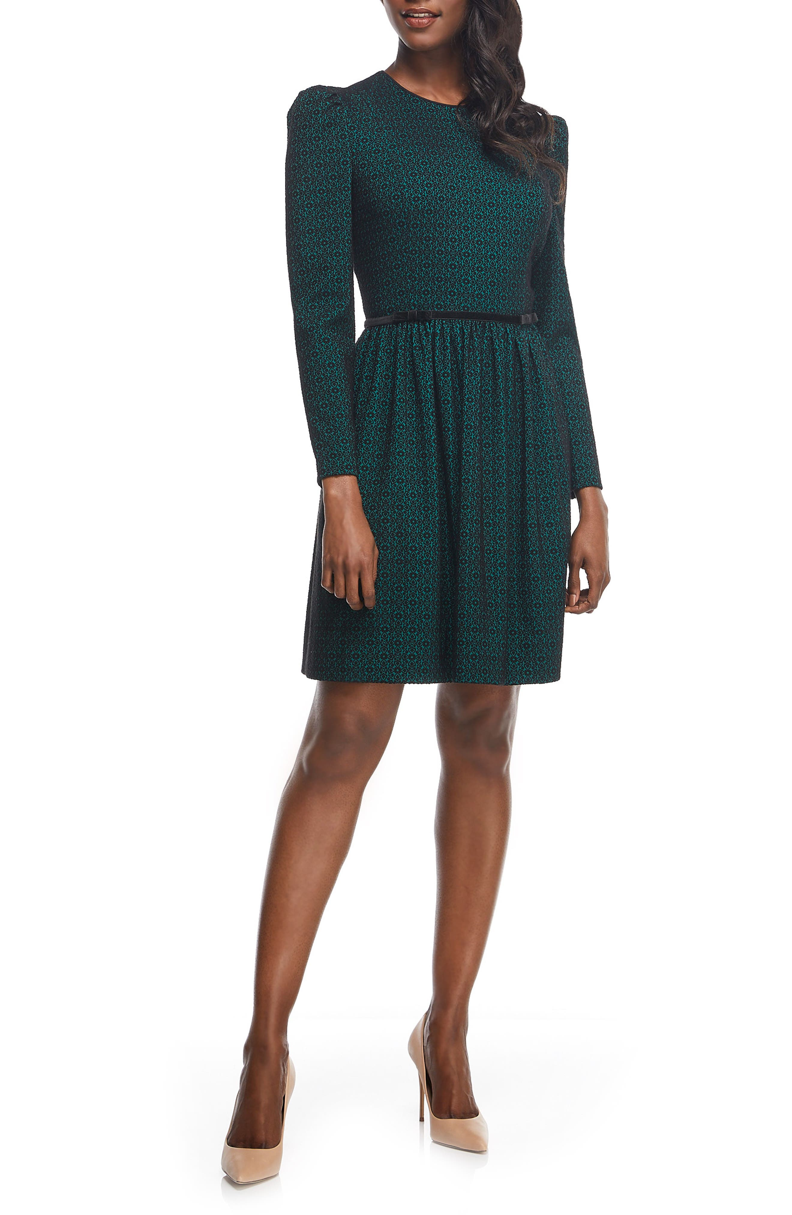 Callie Print Long Sleeve Dress,                             Alternate thumbnail 3, color,                             300