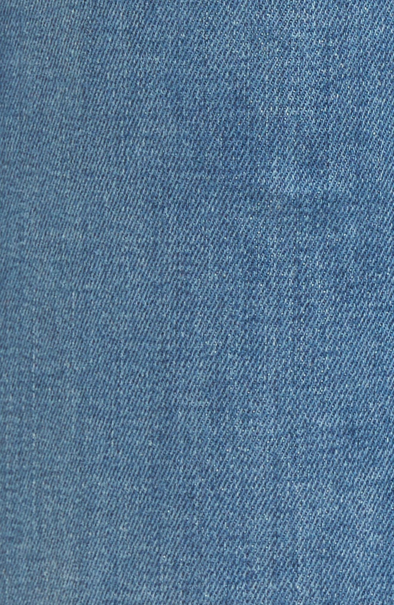 Holly High Waist Raw Hem Crop Wide Leg Jeans,                             Alternate thumbnail 6, color,                             420