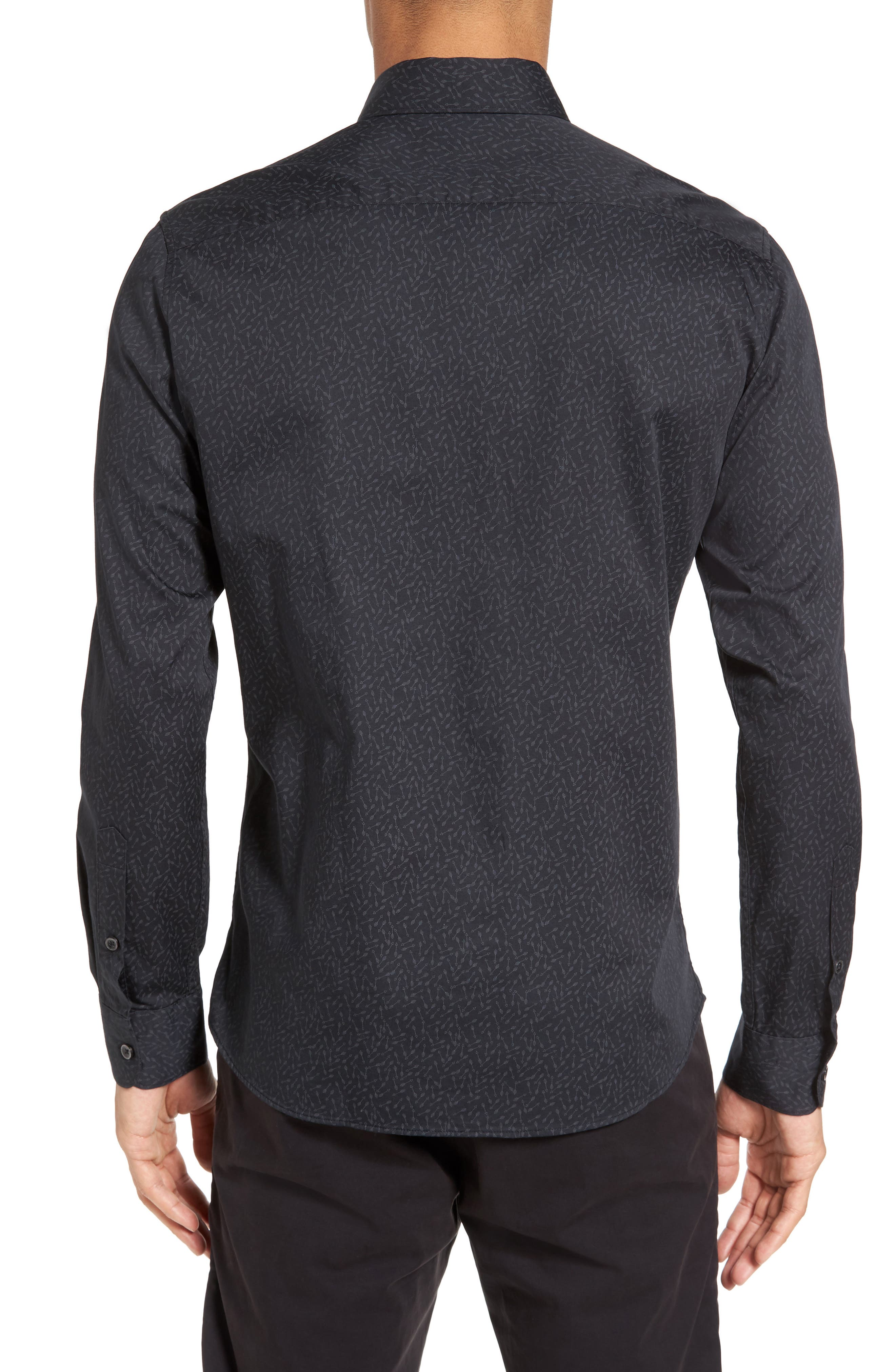 Slim Fit Arrow Print Sport Shirt,                             Main thumbnail 1, color,                             038