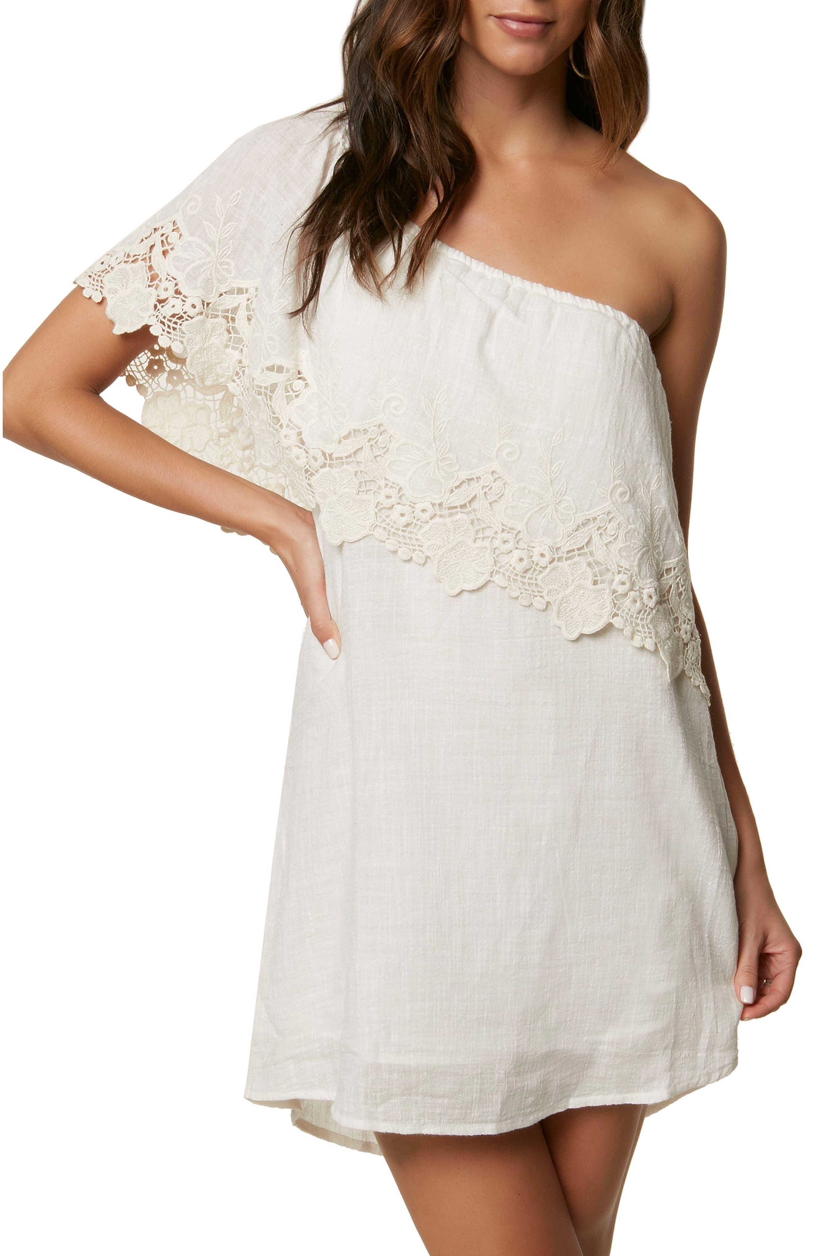 Eryn One-Shoulder Dress,                         Main,                         color, NAKED