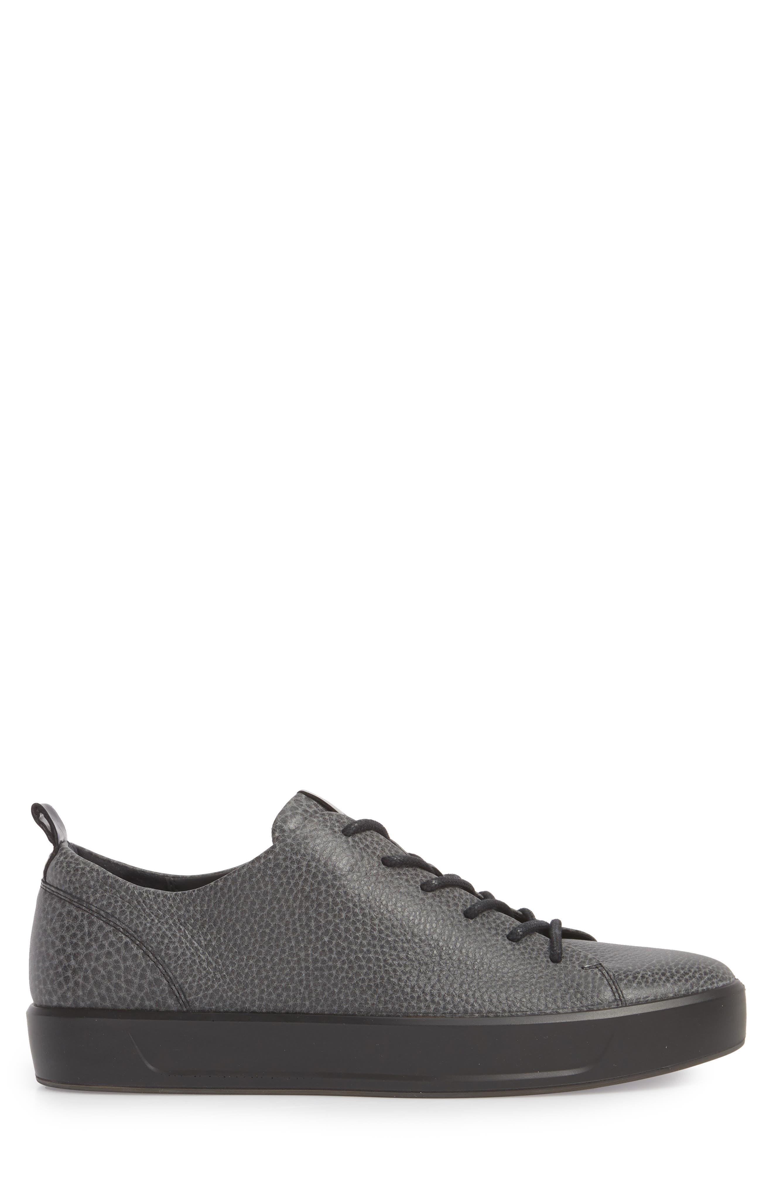 Soft 8 Tie II Low Top Sneaker,                             Alternate thumbnail 3, color,                             BLACK