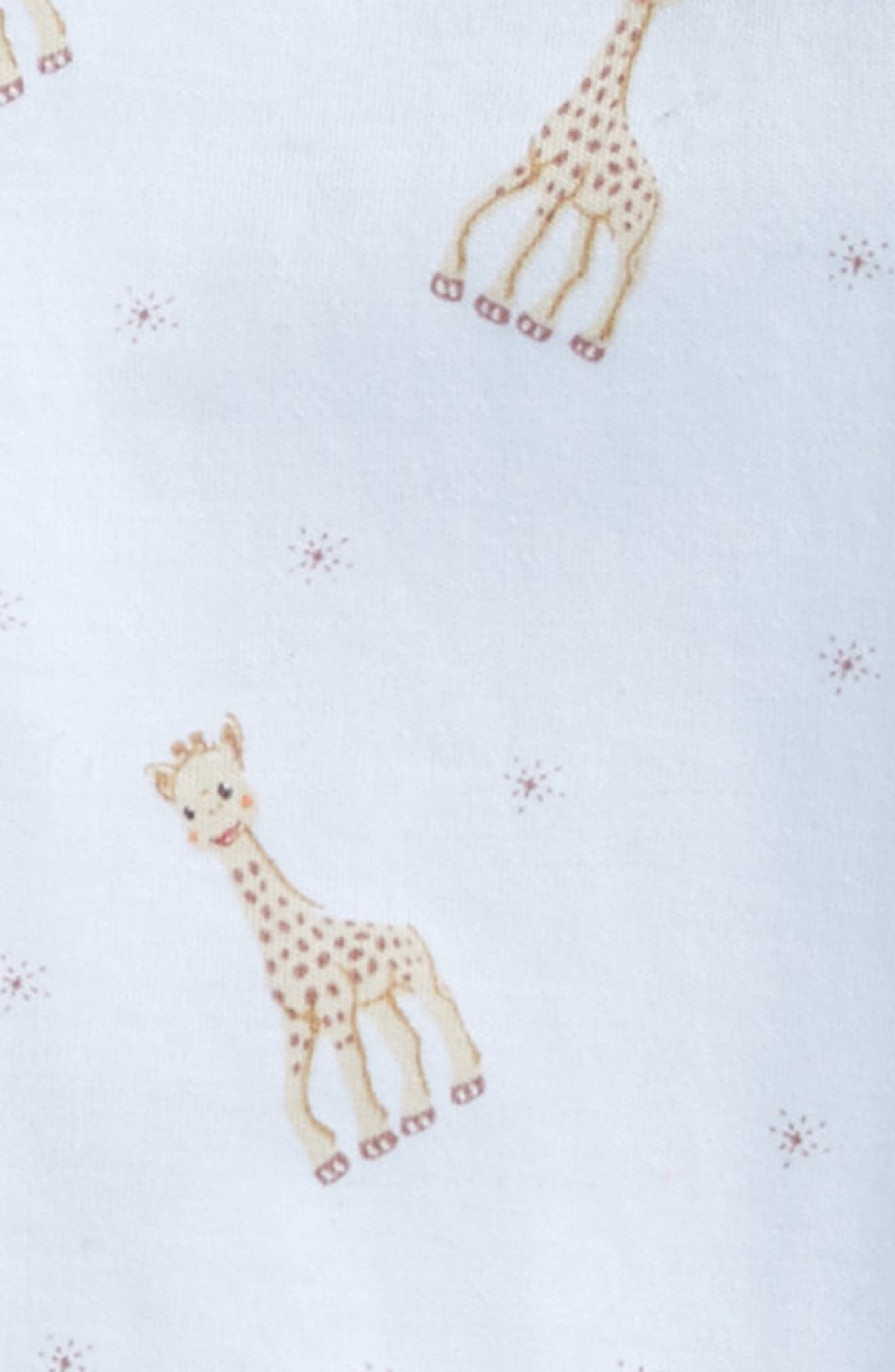 x Sophie la Girafe Print Footie,                             Alternate thumbnail 2, color,                             LIGHT BLUE PRINT