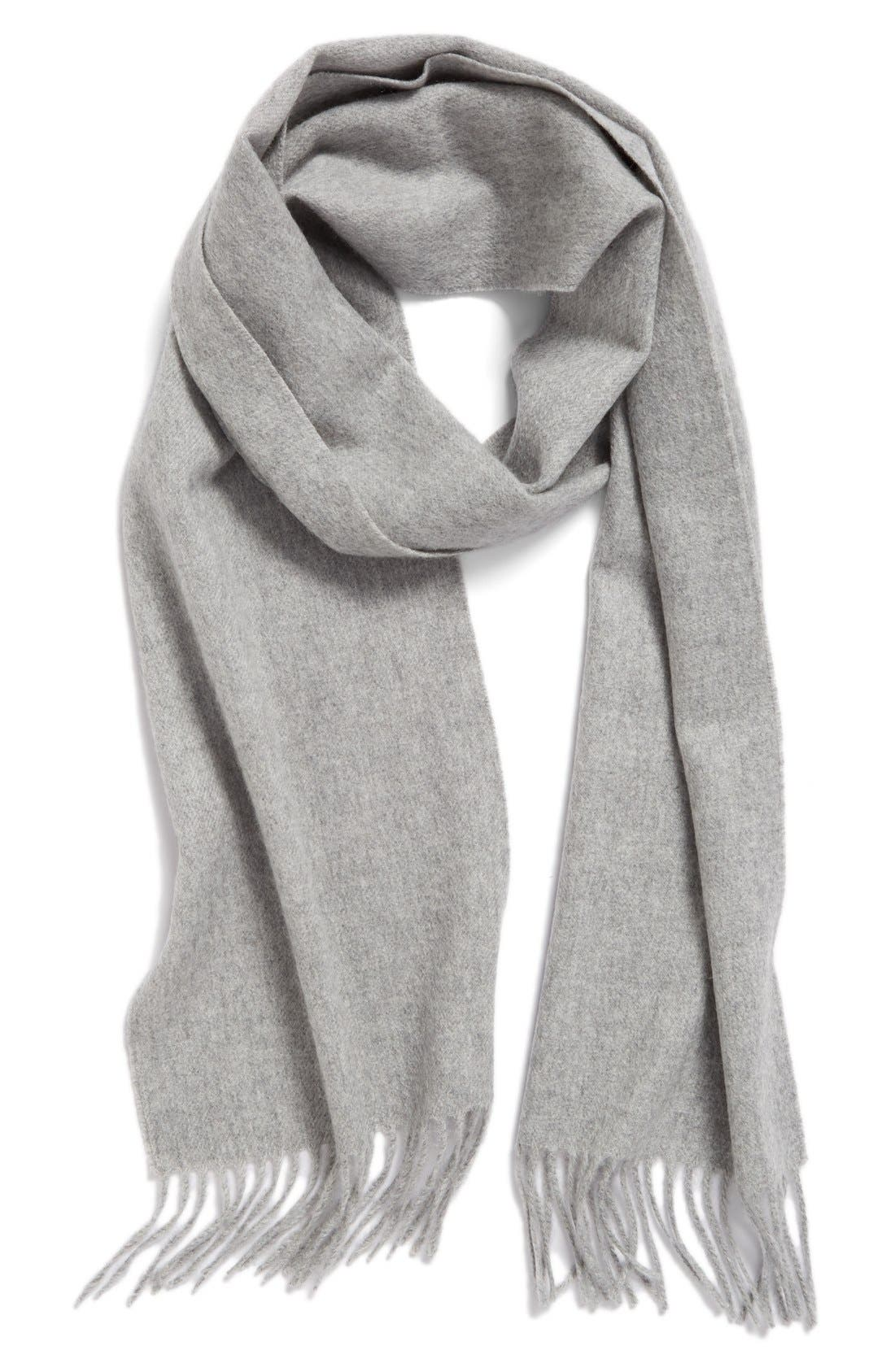 Solid Woven Cashmere Scarf,                             Main thumbnail 5, color,